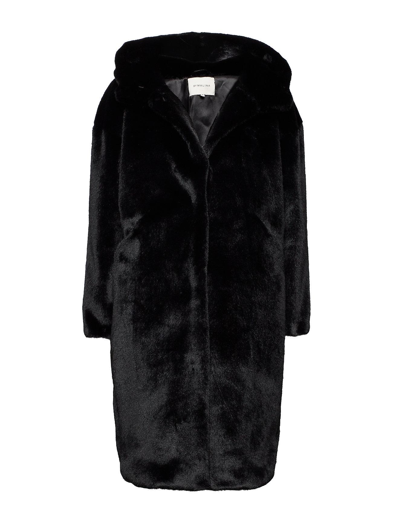 By Malina Carli faux fur coat - BLACK
