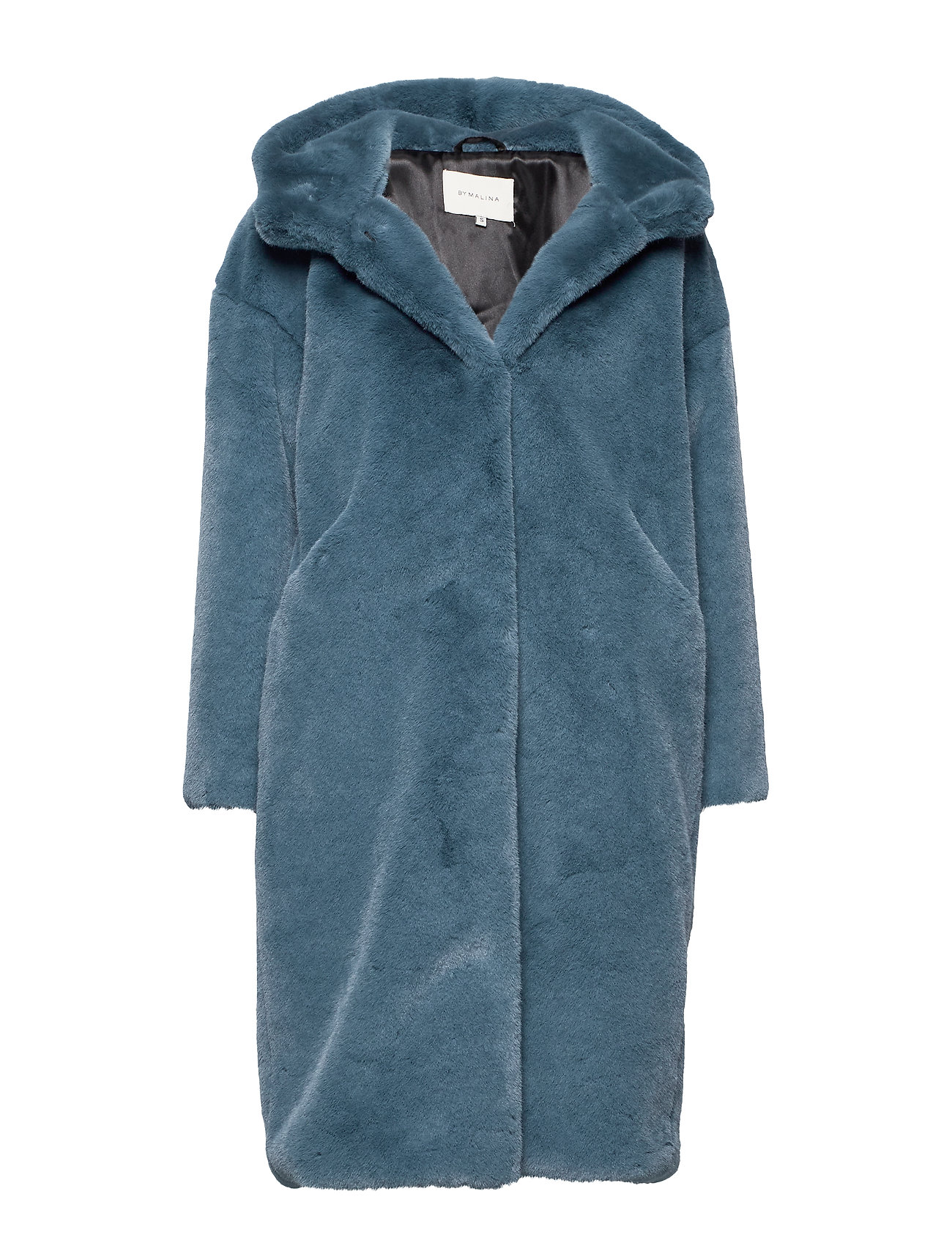 By Malina Carli faux fur coat - STEEL BLUE