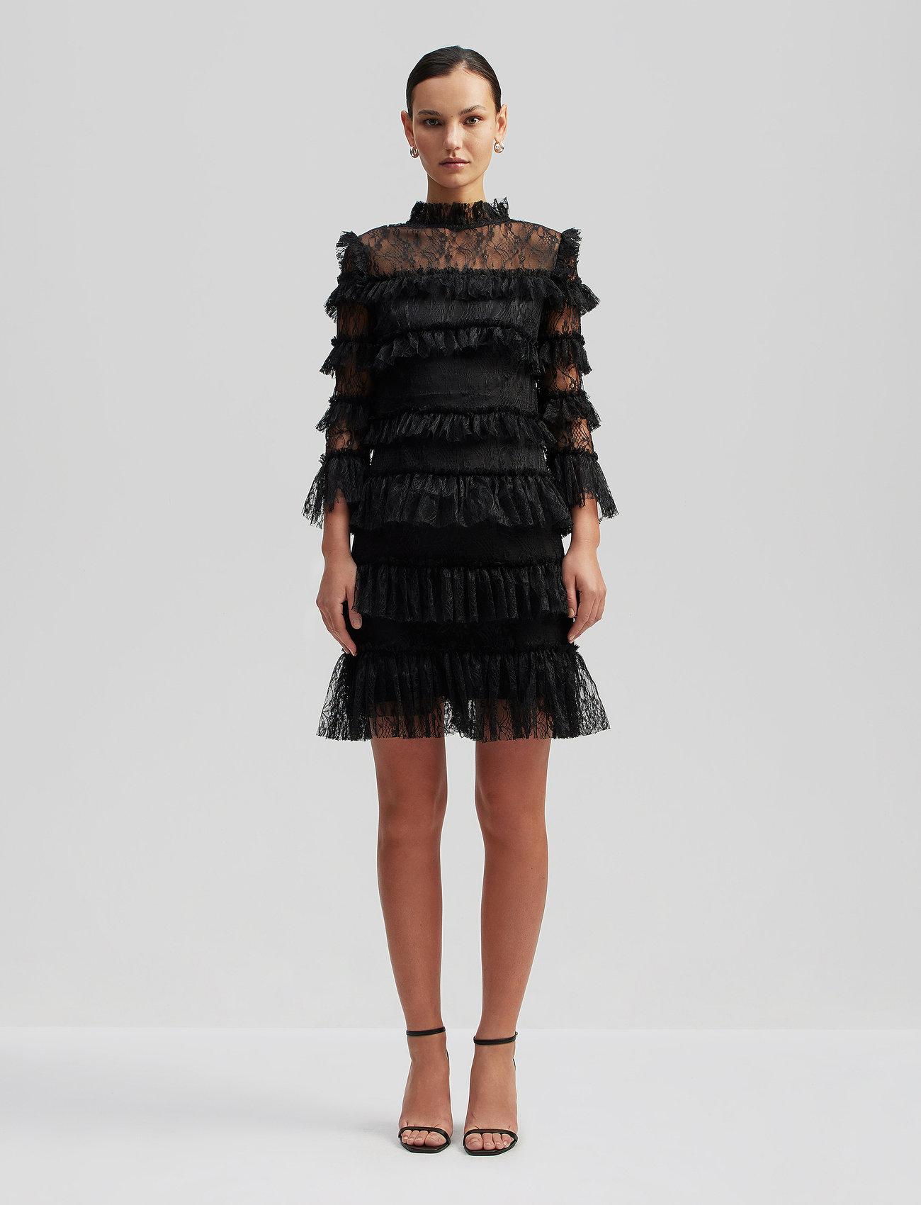 By Malina - Carmine mini dress - cocktailjurken - black - 0