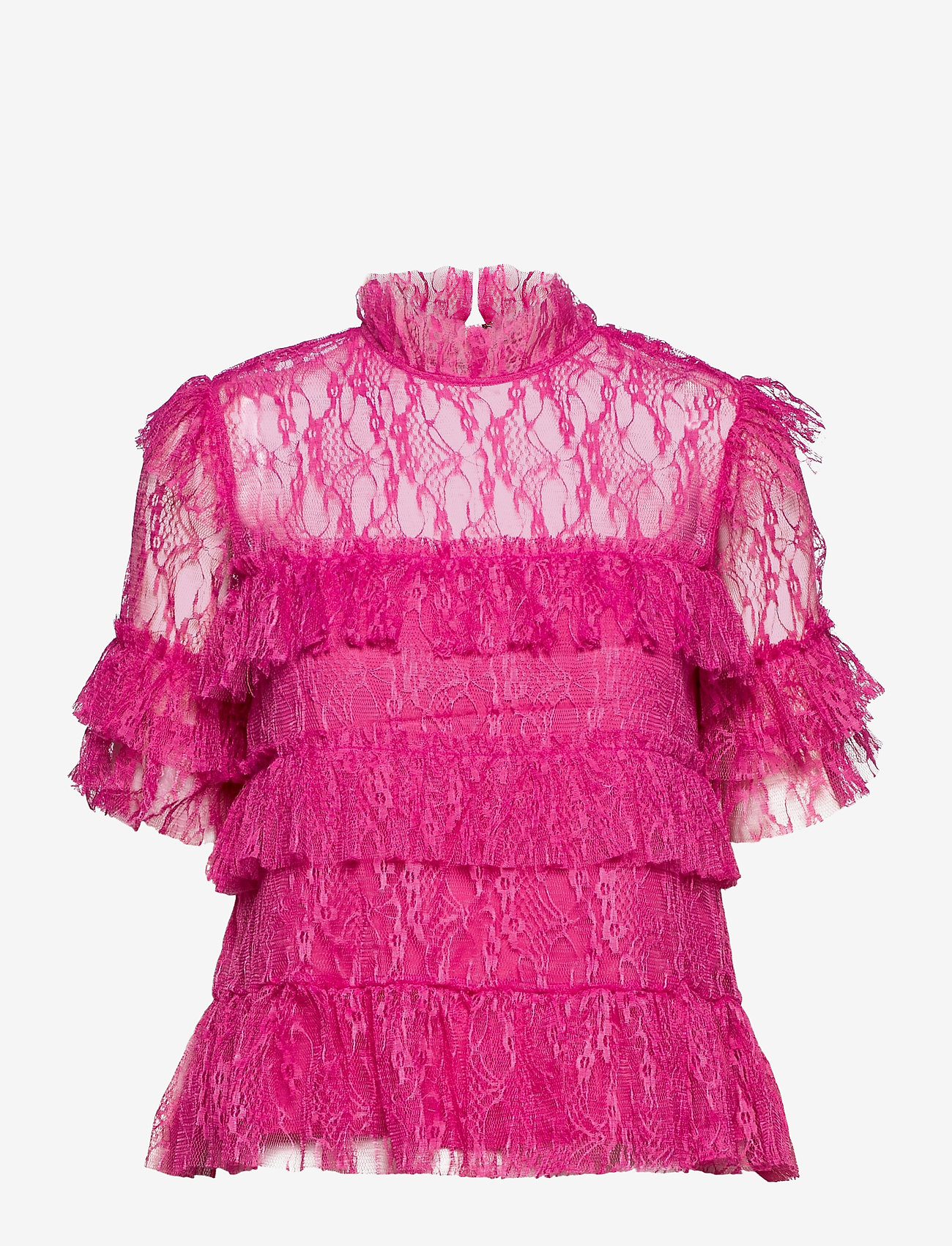 By Malina - Rachel blouse - kortärmade blusar - cerise - 1