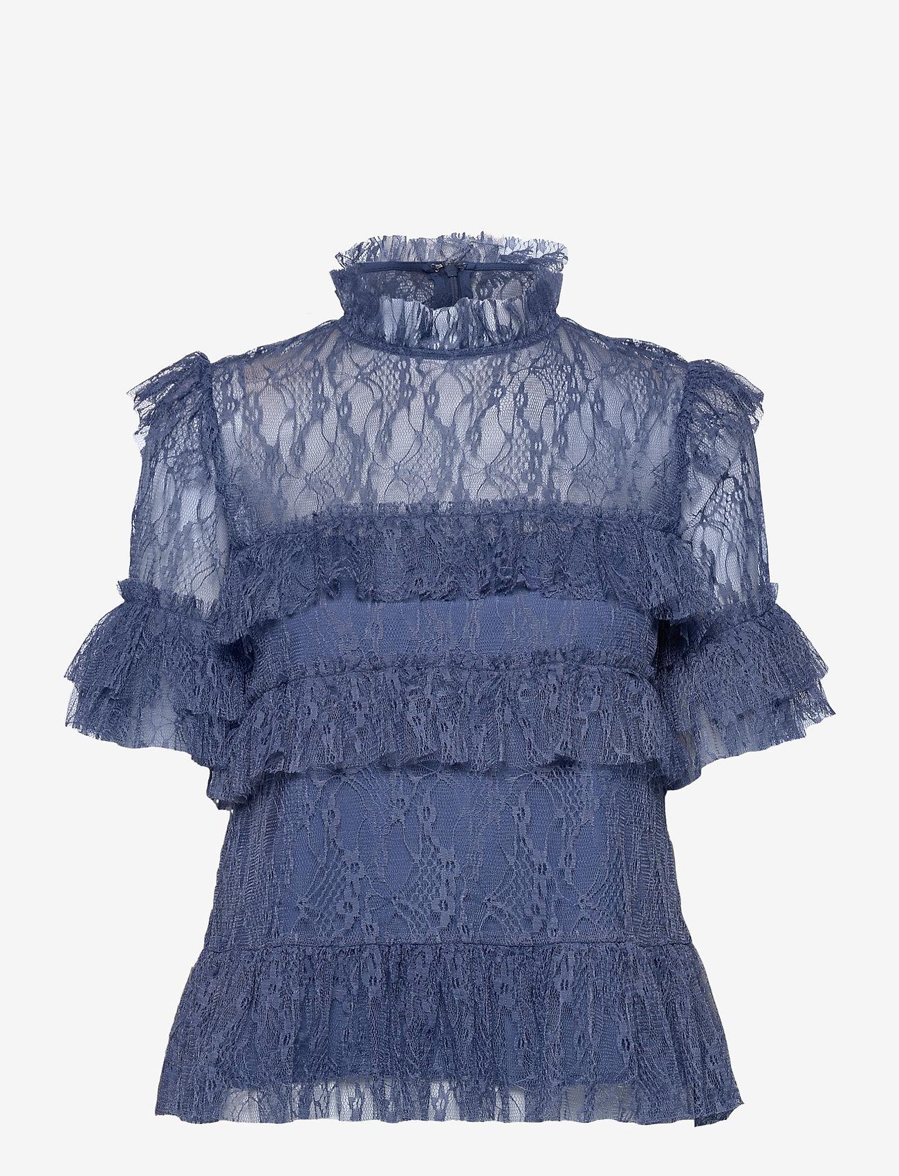 By Malina - Rachel blouse - kortärmade blusar - indigo blue - 1