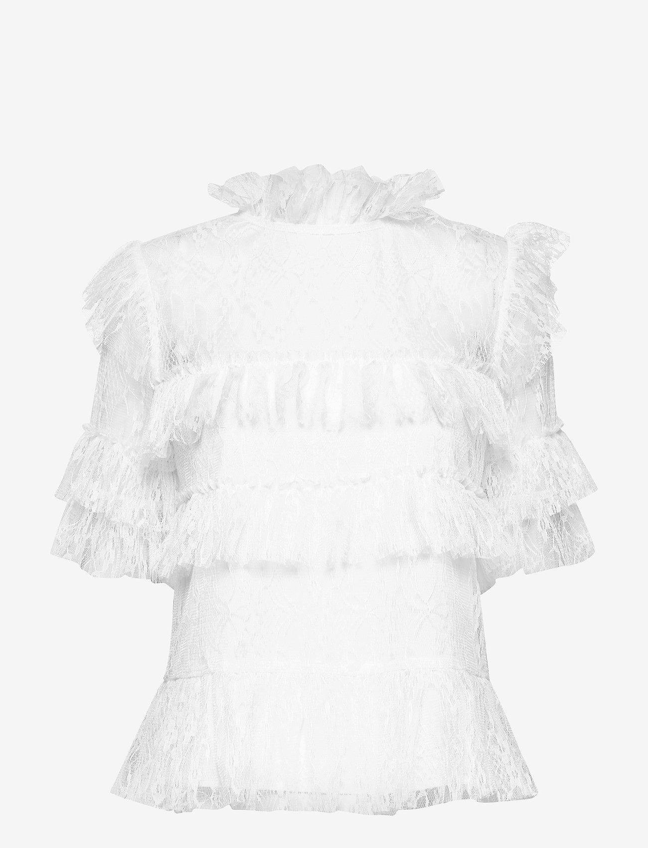 By Malina - Rachel blouse - kortärmade blusar - white - 1