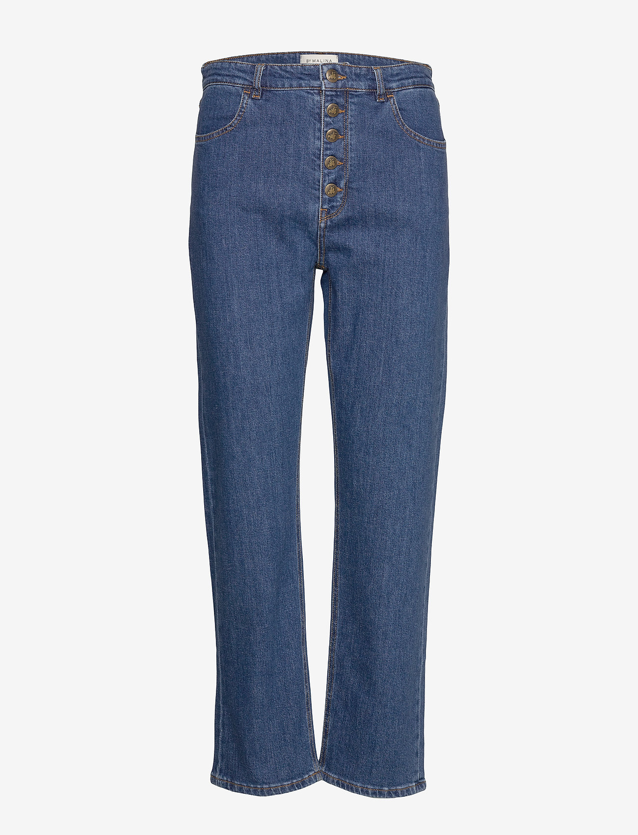 By Malina - Edith jeans - straight regular - washed blue - 0