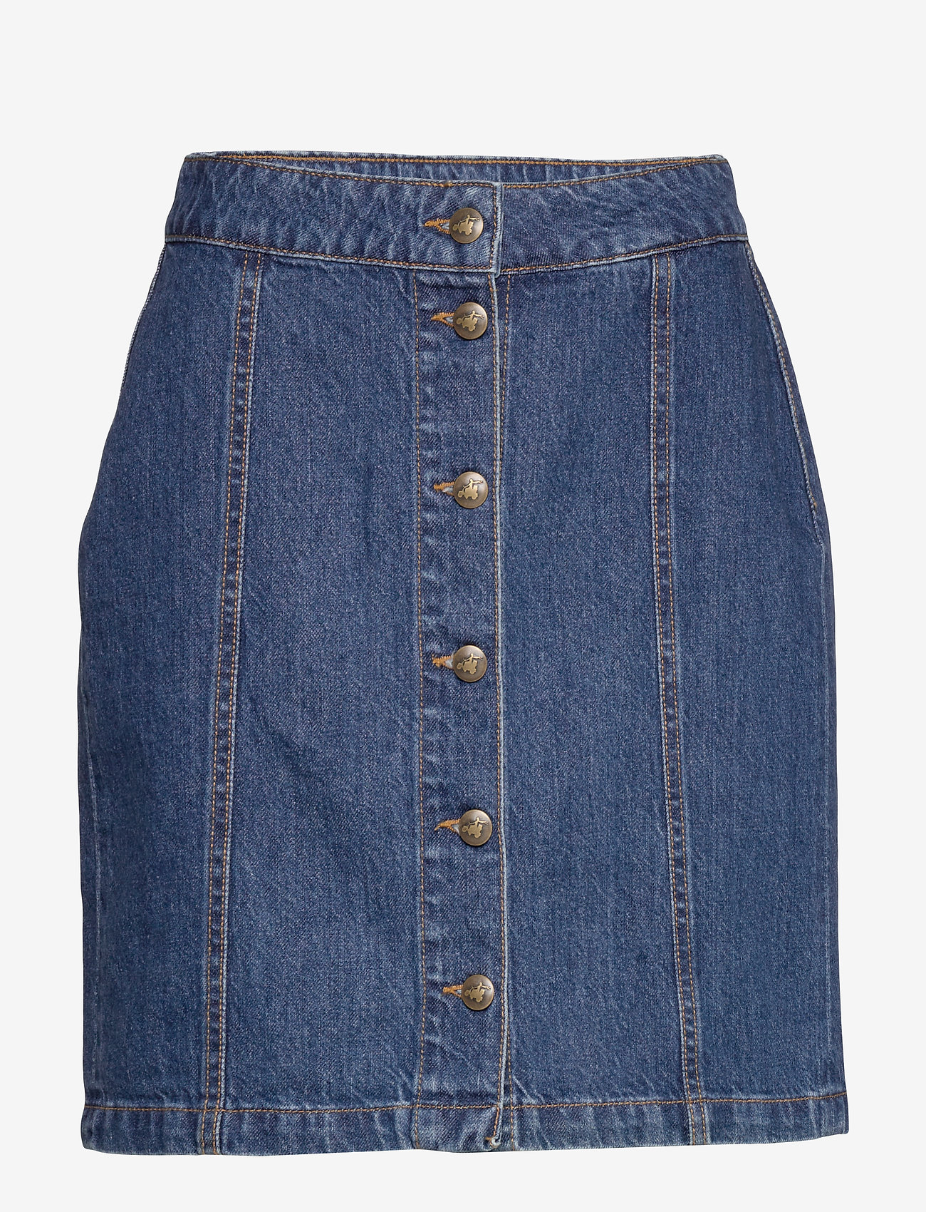 By Malina - Celie skirt - jeansowe spódnice - washed blue - 1