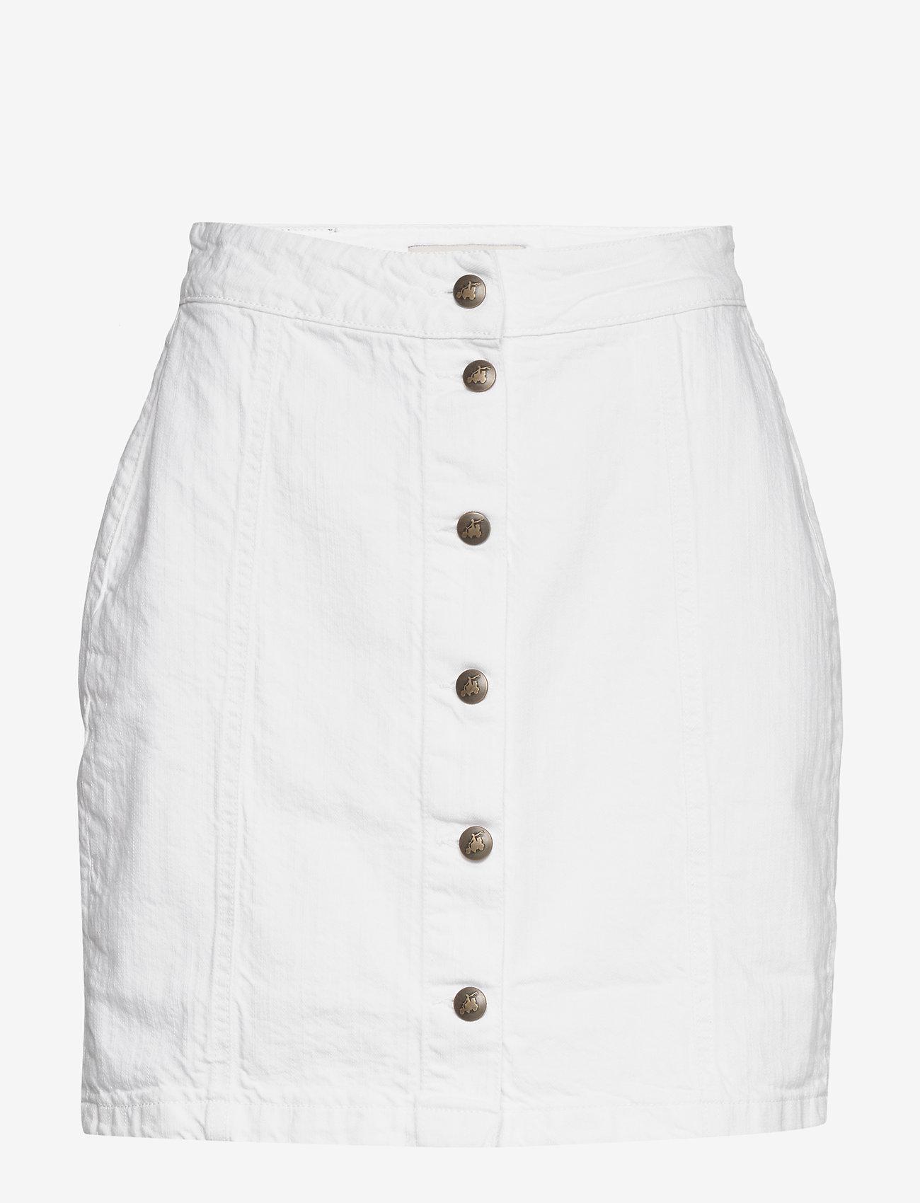 By Malina - Celie skirt - jeansowe spódnice - white - 0