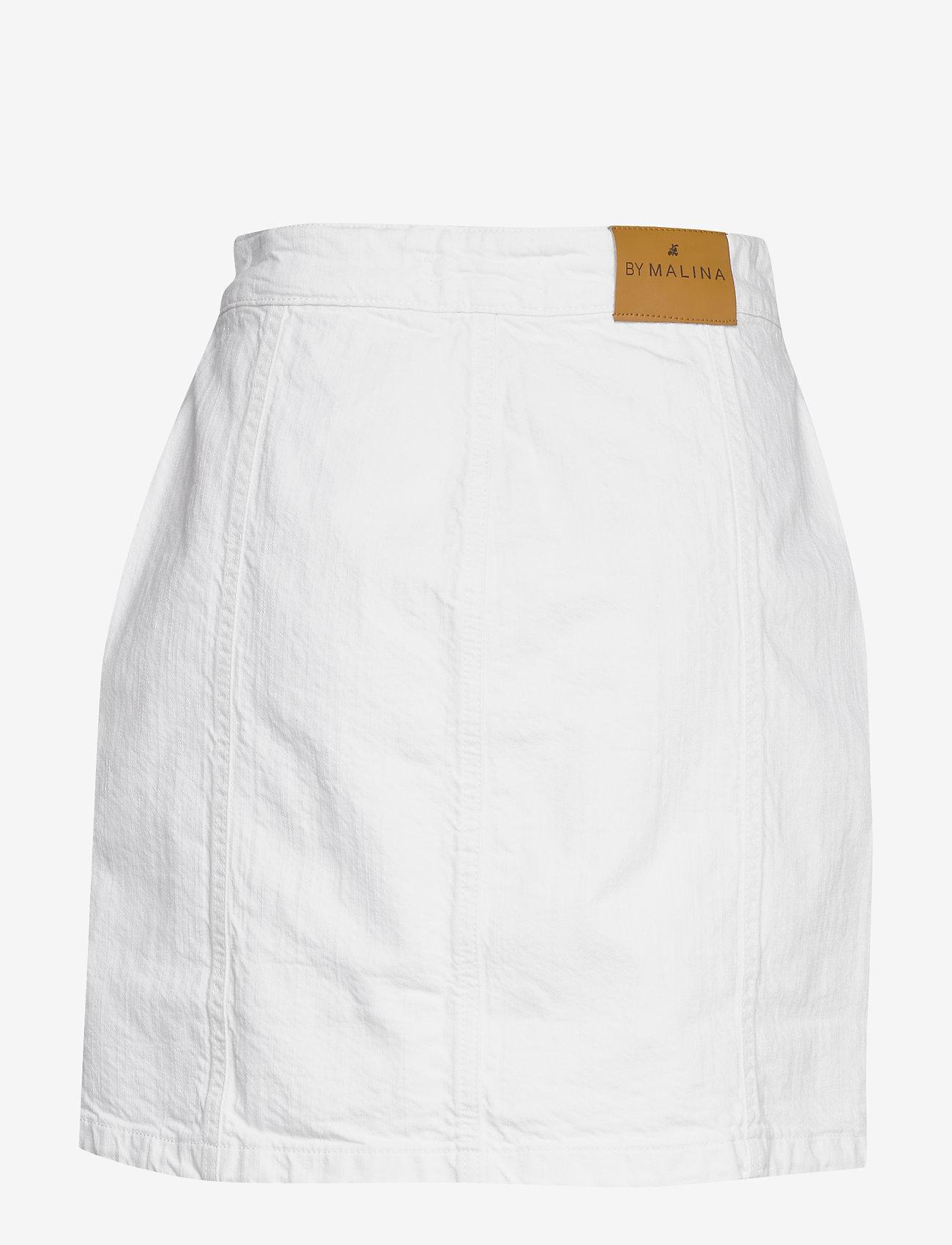 By Malina - Celie skirt - jeansowe spódnice - white - 1