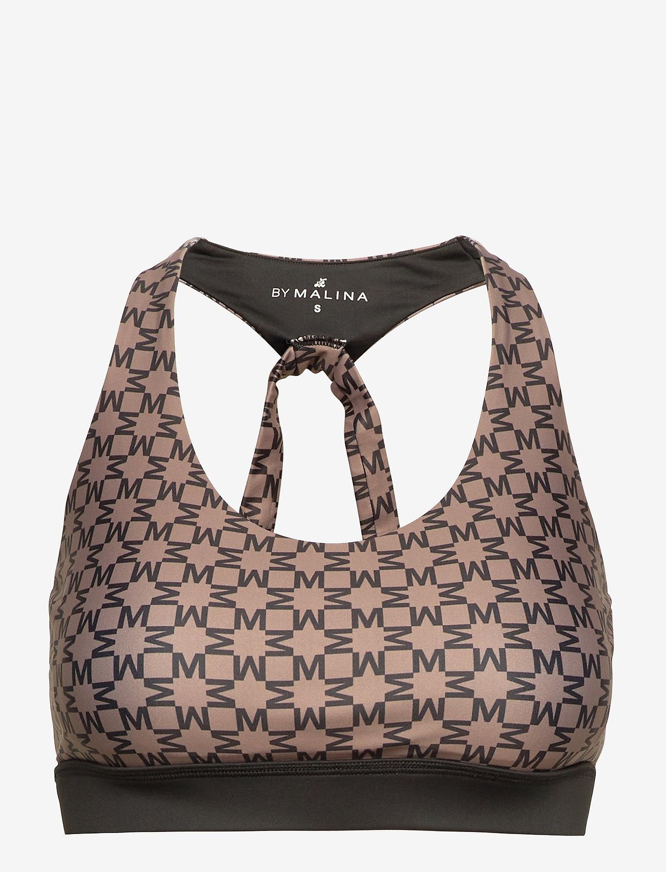 By Malina - Sports bra - sports bras - iconic print mud - 1