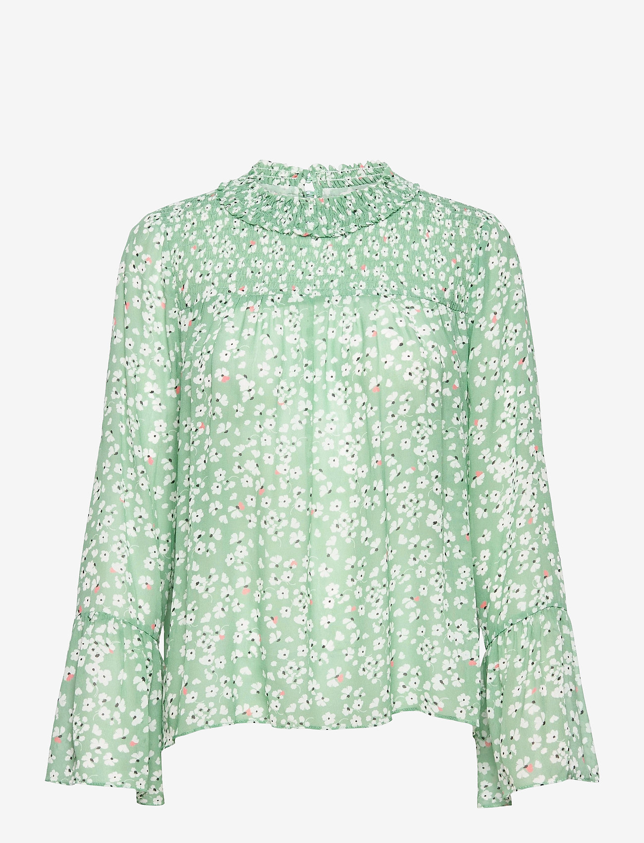By Malina - Donna blouse - långärmade blusar - garden flower - 1