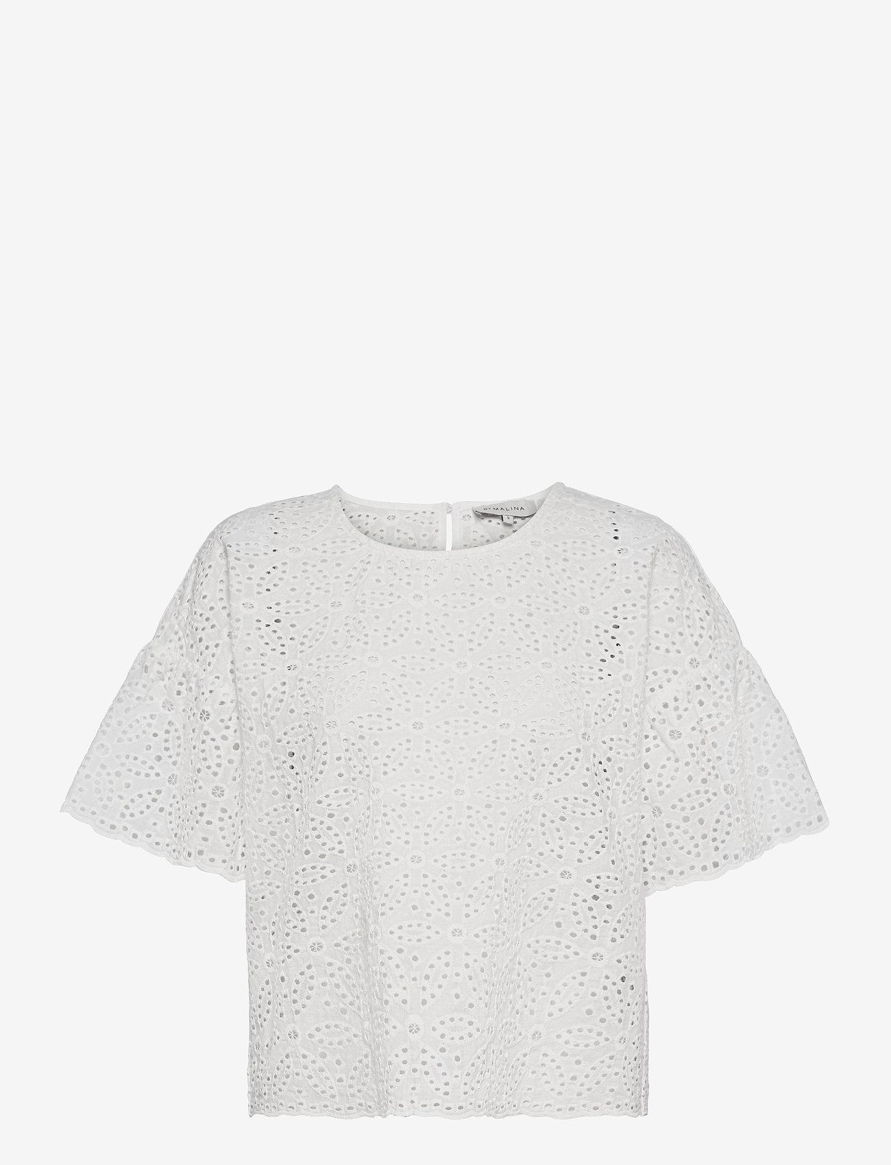 By Malina - Callie blouse - kortärmade blusar - white - 1
