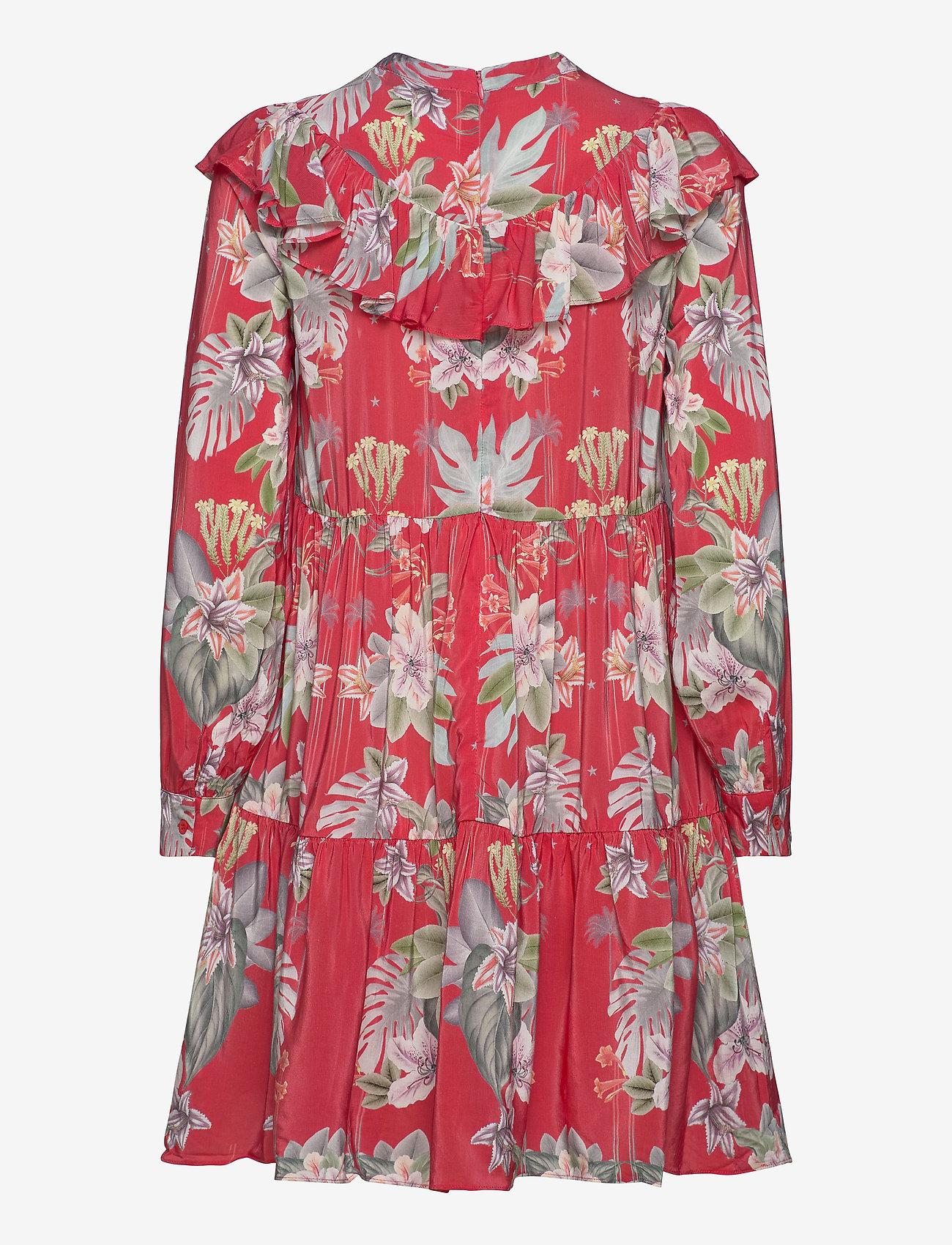 By Malina - Malva dress - midiklänningar - electric jungle pink coral - 1