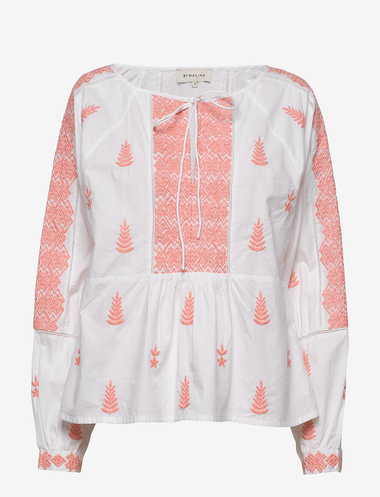 By Malina - Rose blouse - långärmade blusar - peach blush - 0