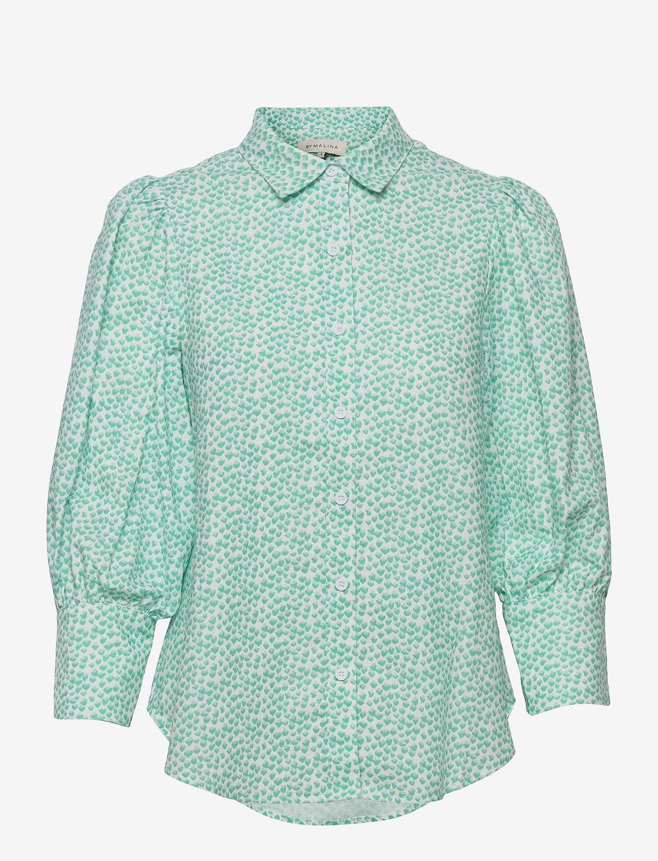 By Malina - Eliza shirt - långärmade skjortor - coastal flower - 1