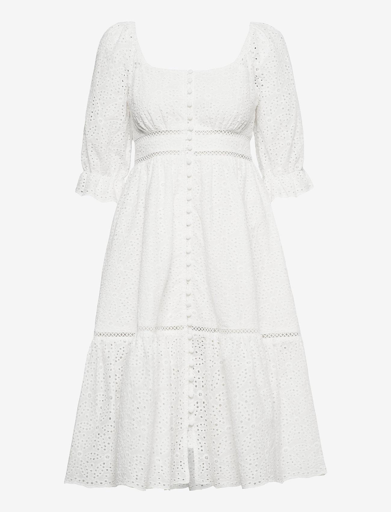 By Malina - Gloria dress - vardagsklänningar - white - 0