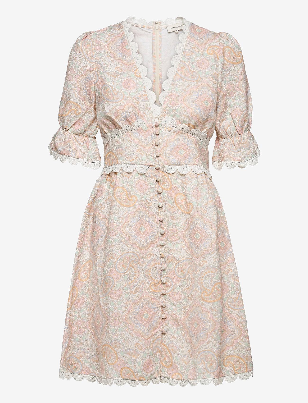 By Malina - Leonie dress - sommarklänningar - pastel paisley - 1