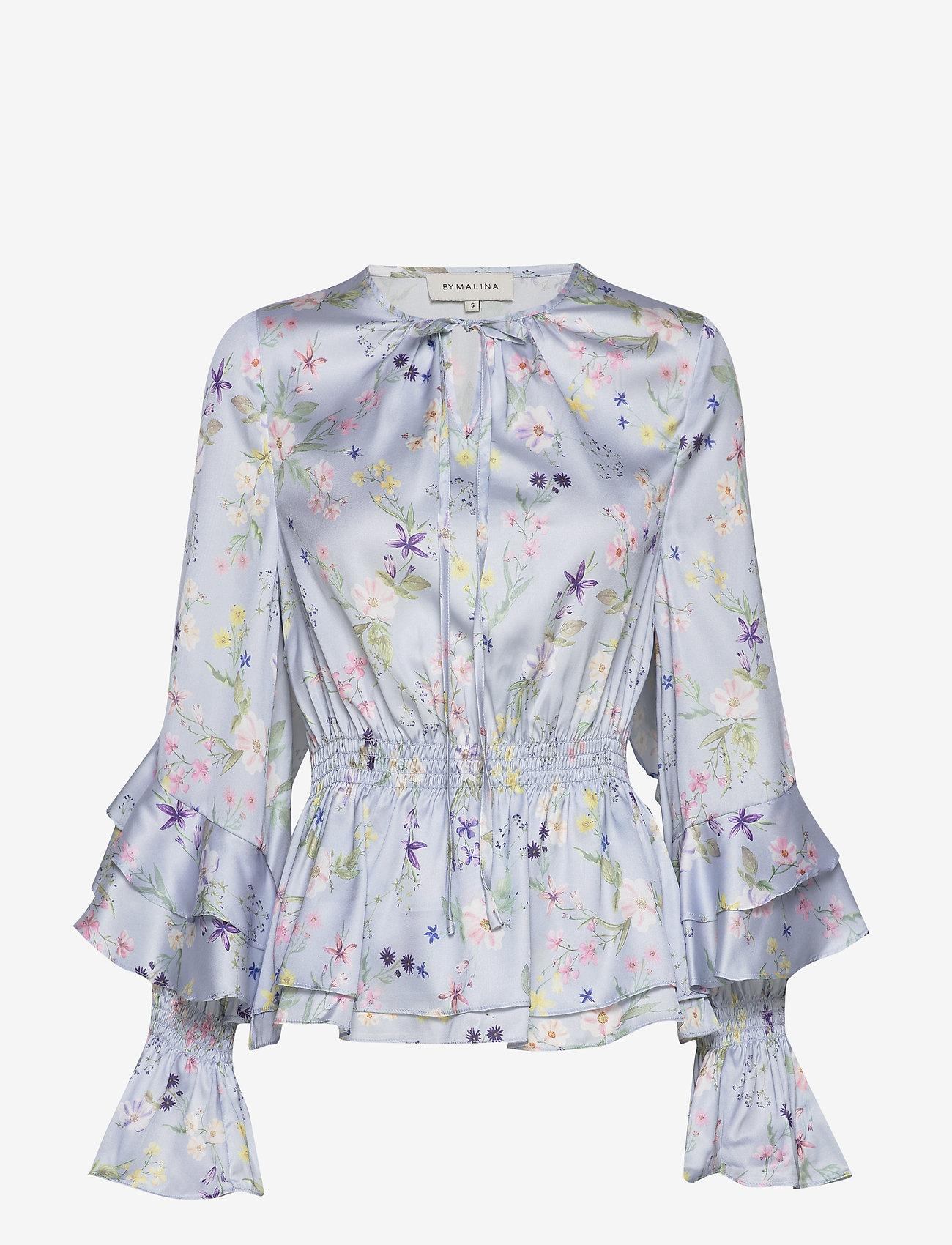 By Malina - Estrid blouse - långärmade blusar - midsummer blue - 0