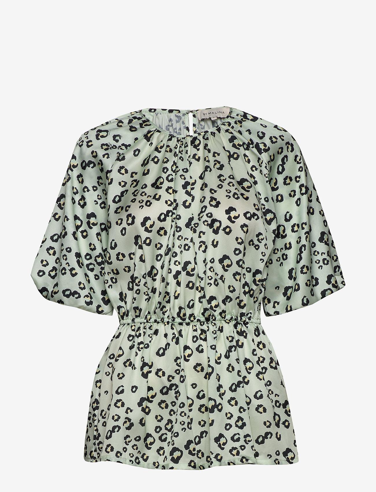 By Malina - Mina blouse - kortärmade blusar - leo aqua - 0