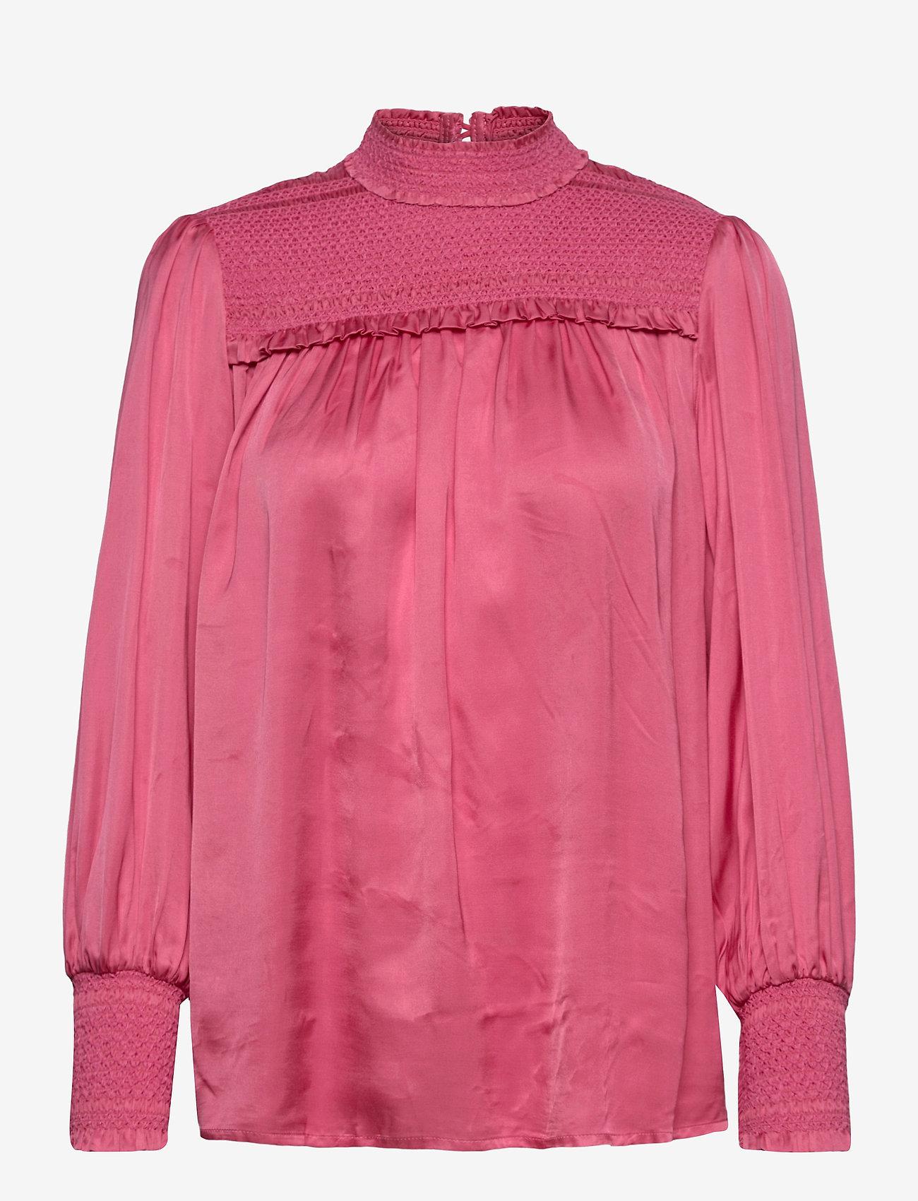 By Malina - Shirley blouse - långärmade blusar - ballet pink - 1