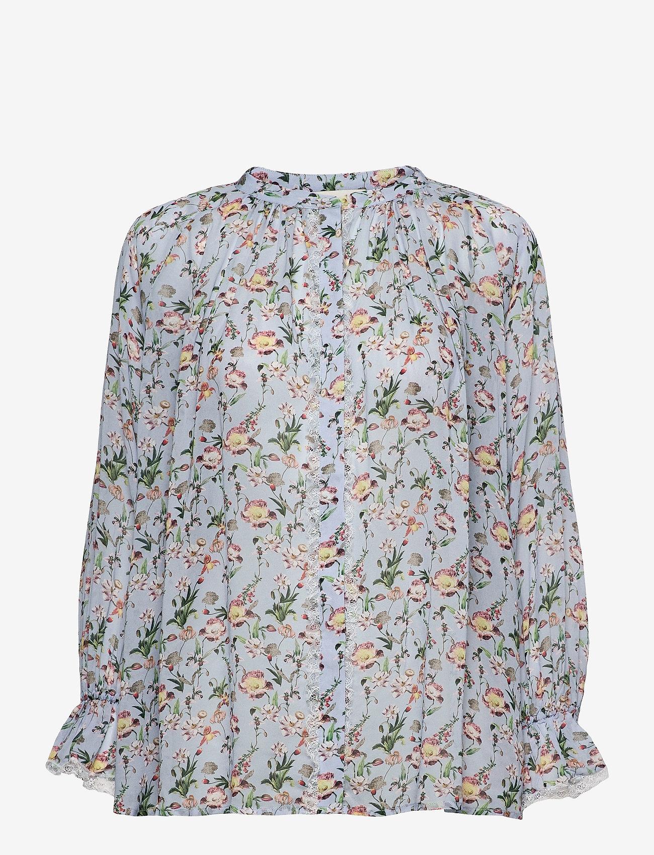 By Malina - Ivey blouse - långärmade blusar - french rose sky blue - 0