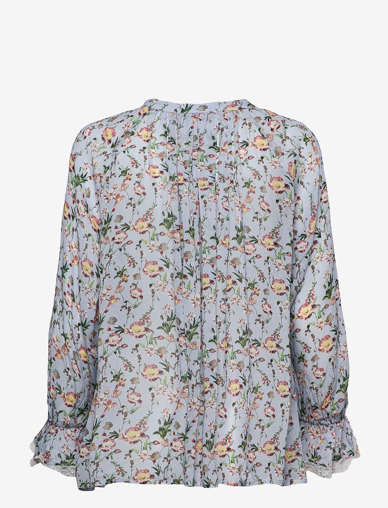 By Malina - Ivey blouse - långärmade blusar - french rose sky blue - 1