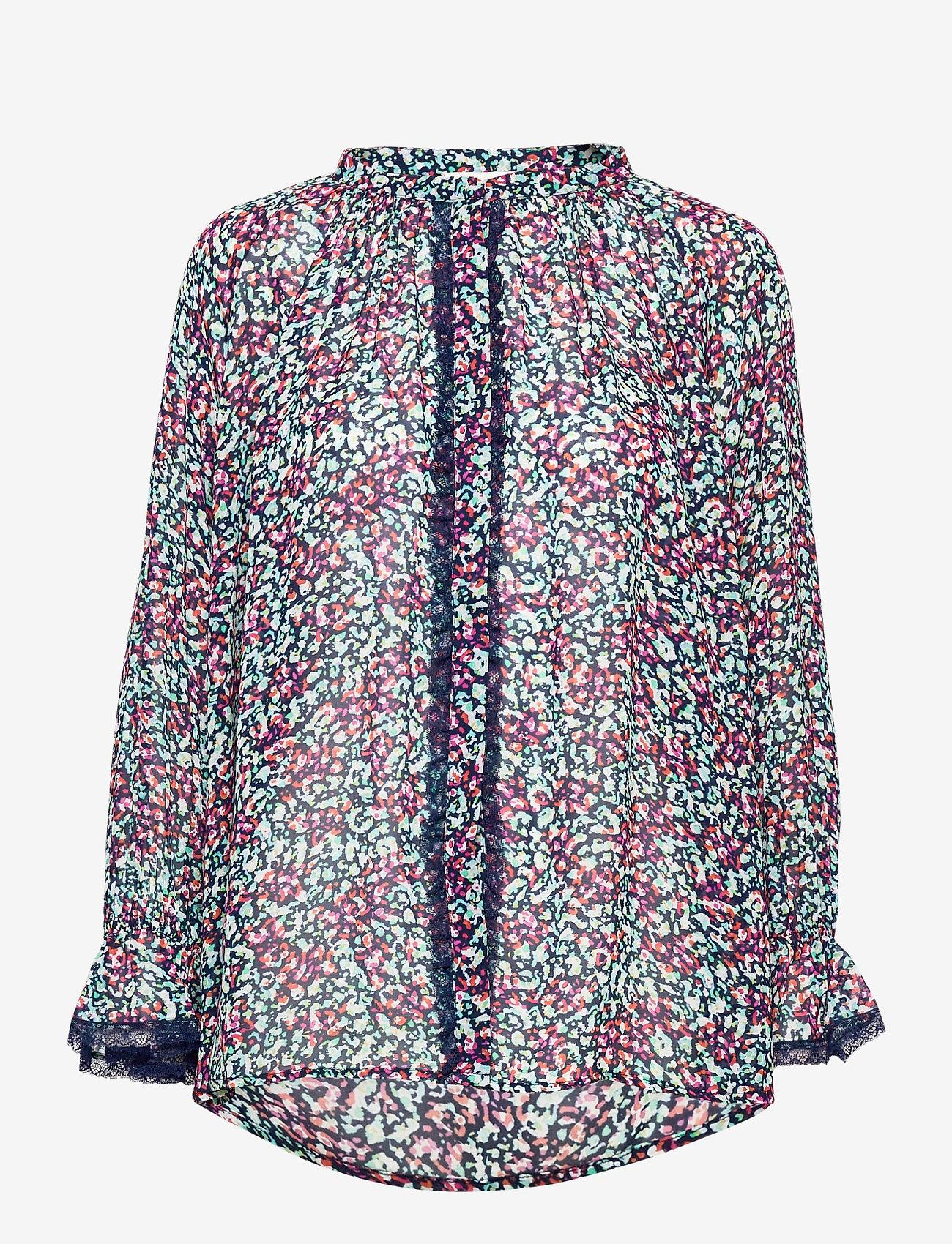 By Malina - Ivey blouse - långärmade blusar - wild blossom - 1