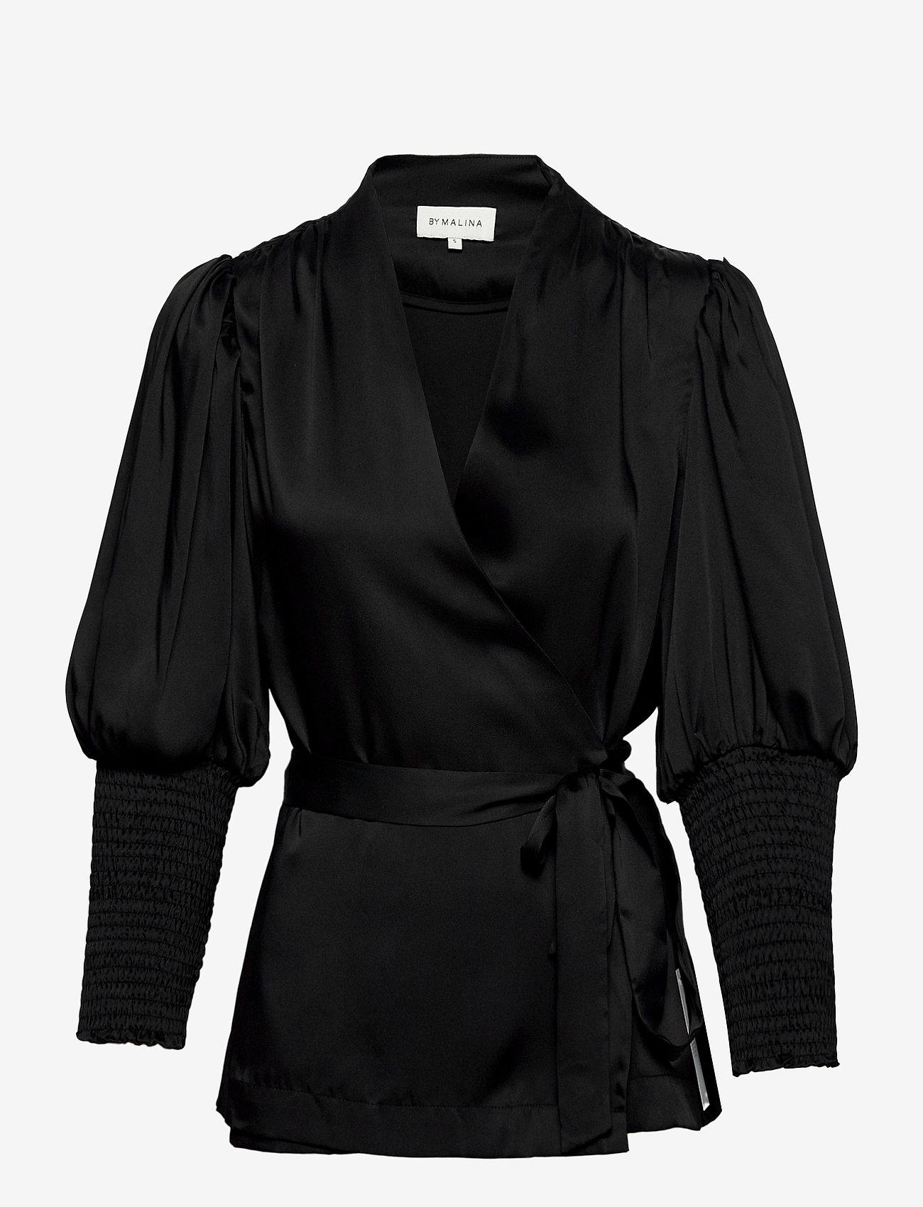 By Malina - Hope blouse - långärmade blusar - black - 1