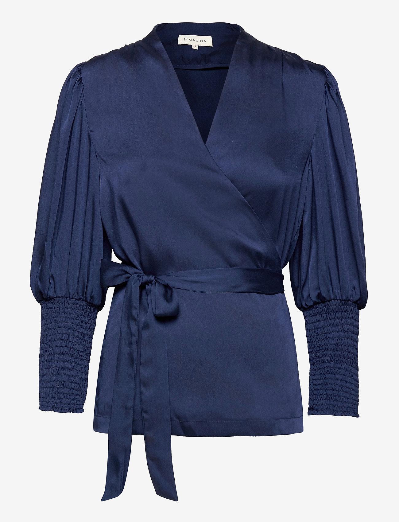 By Malina - Hope blouse - långärmade blusar - deep blue - 0
