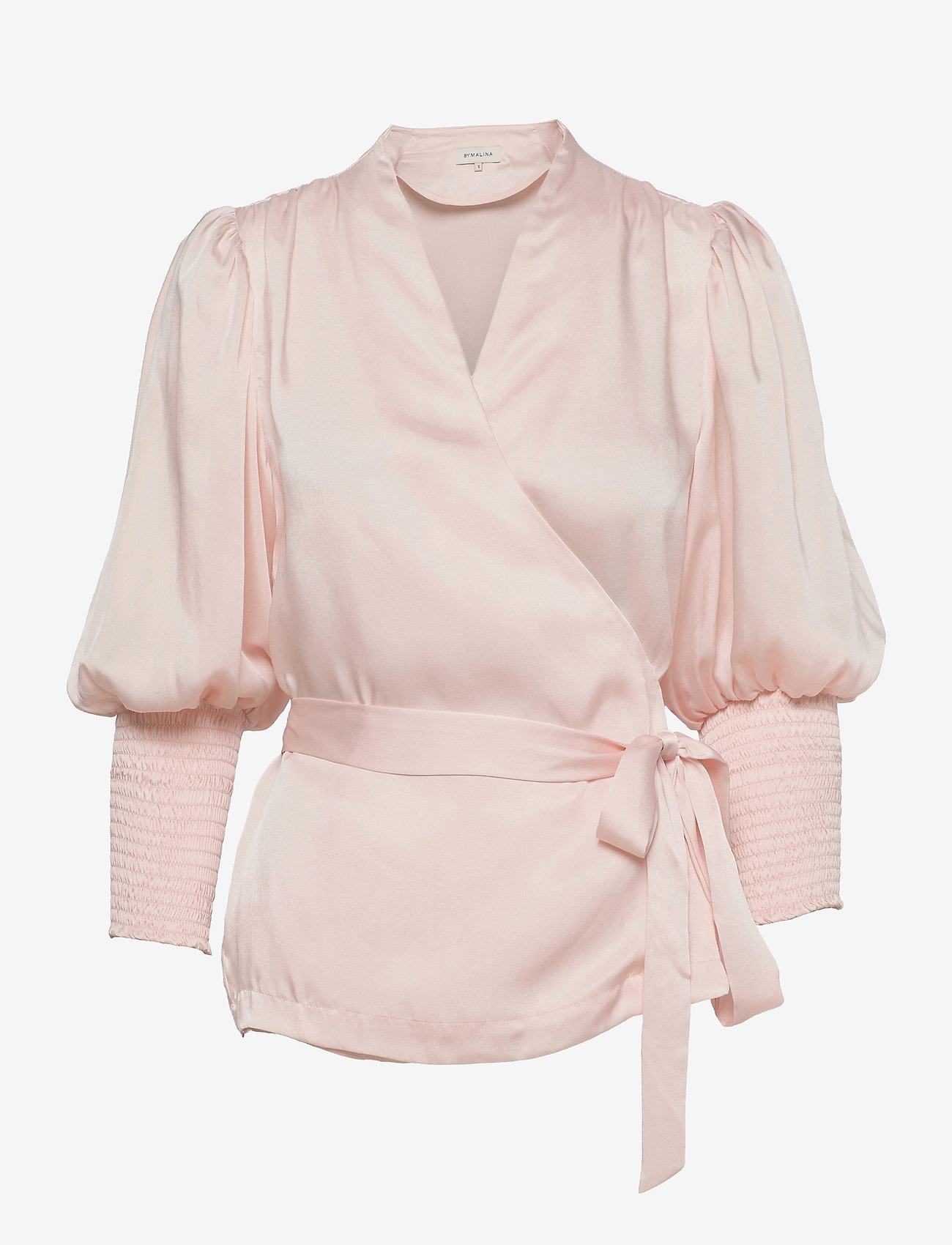By Malina - Hope blouse - långärmade blusar - pale pink - 0