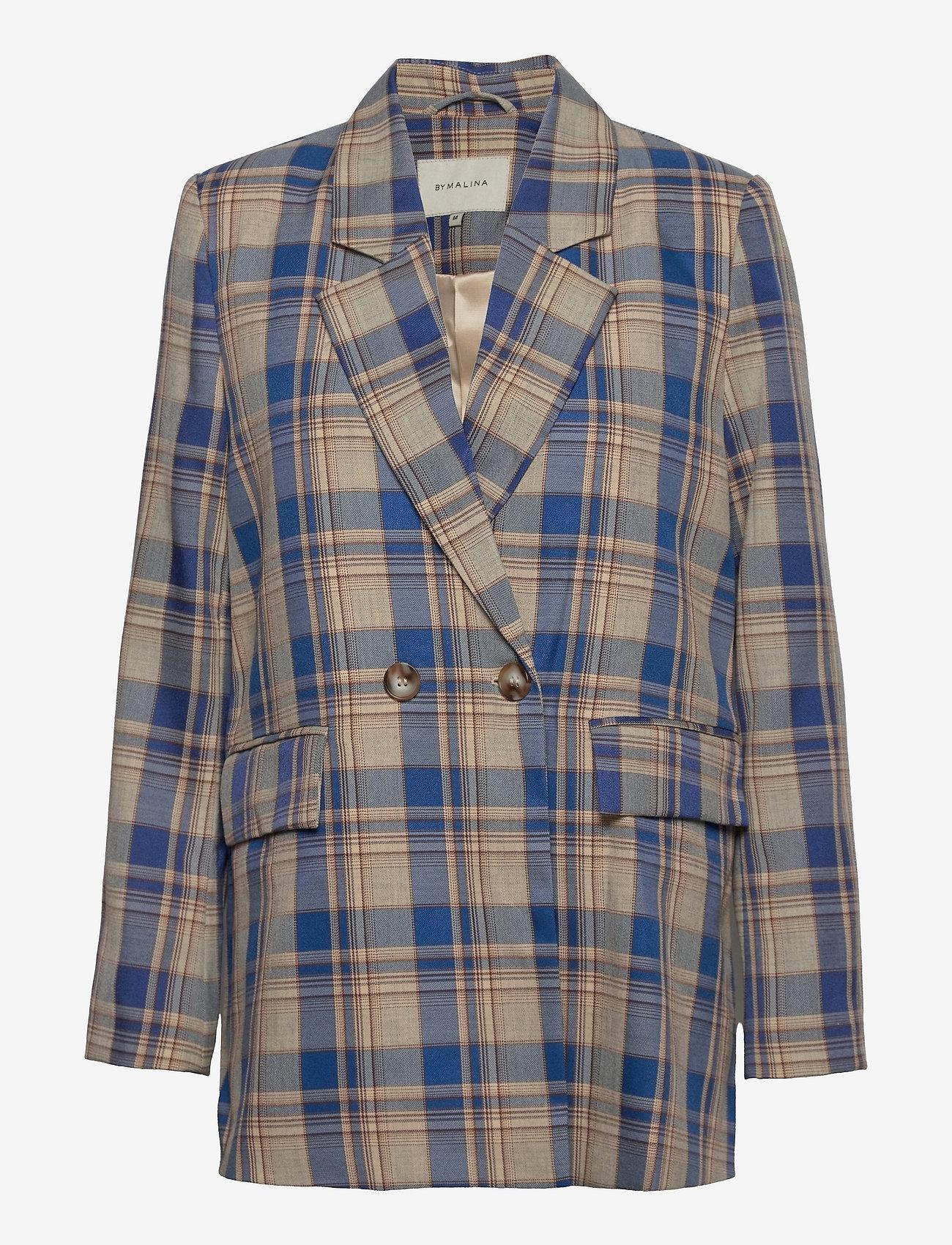By Malina - Charlie blazer - oversize kavajer - blue check - 1