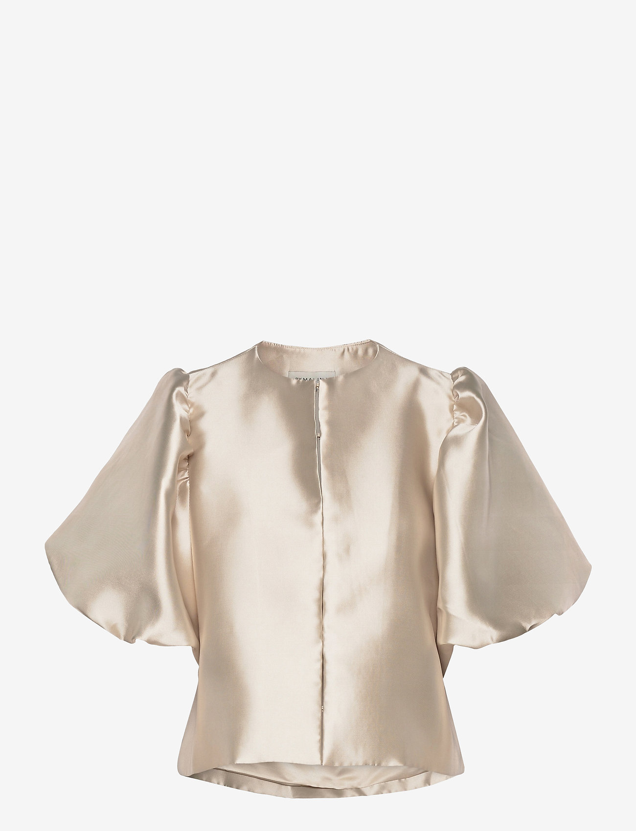 By Malina - Cleo blouse - kortärmade blusar - soft beige - 1