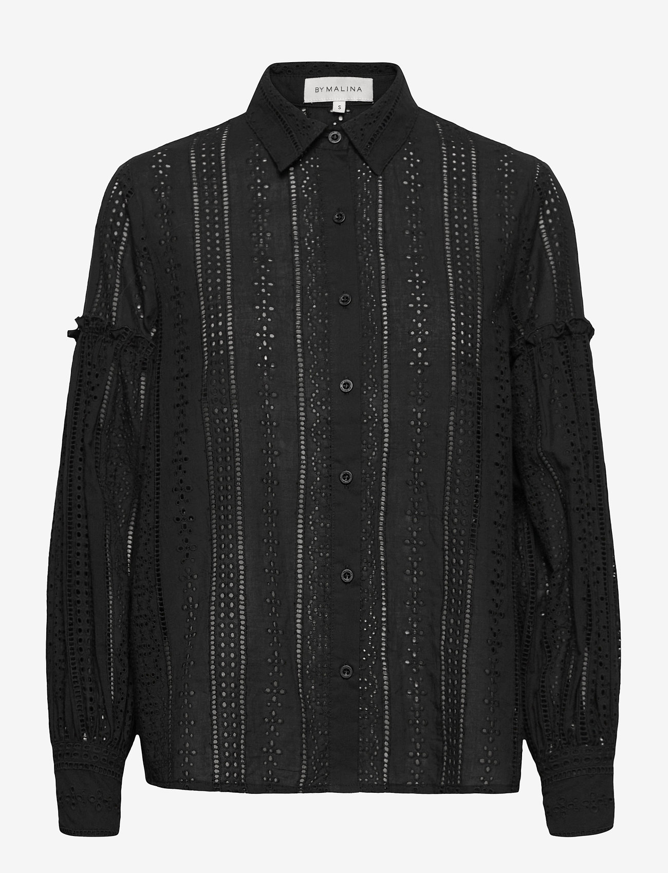 By Malina - Juno blouse - långärmade skjortor - black - 1