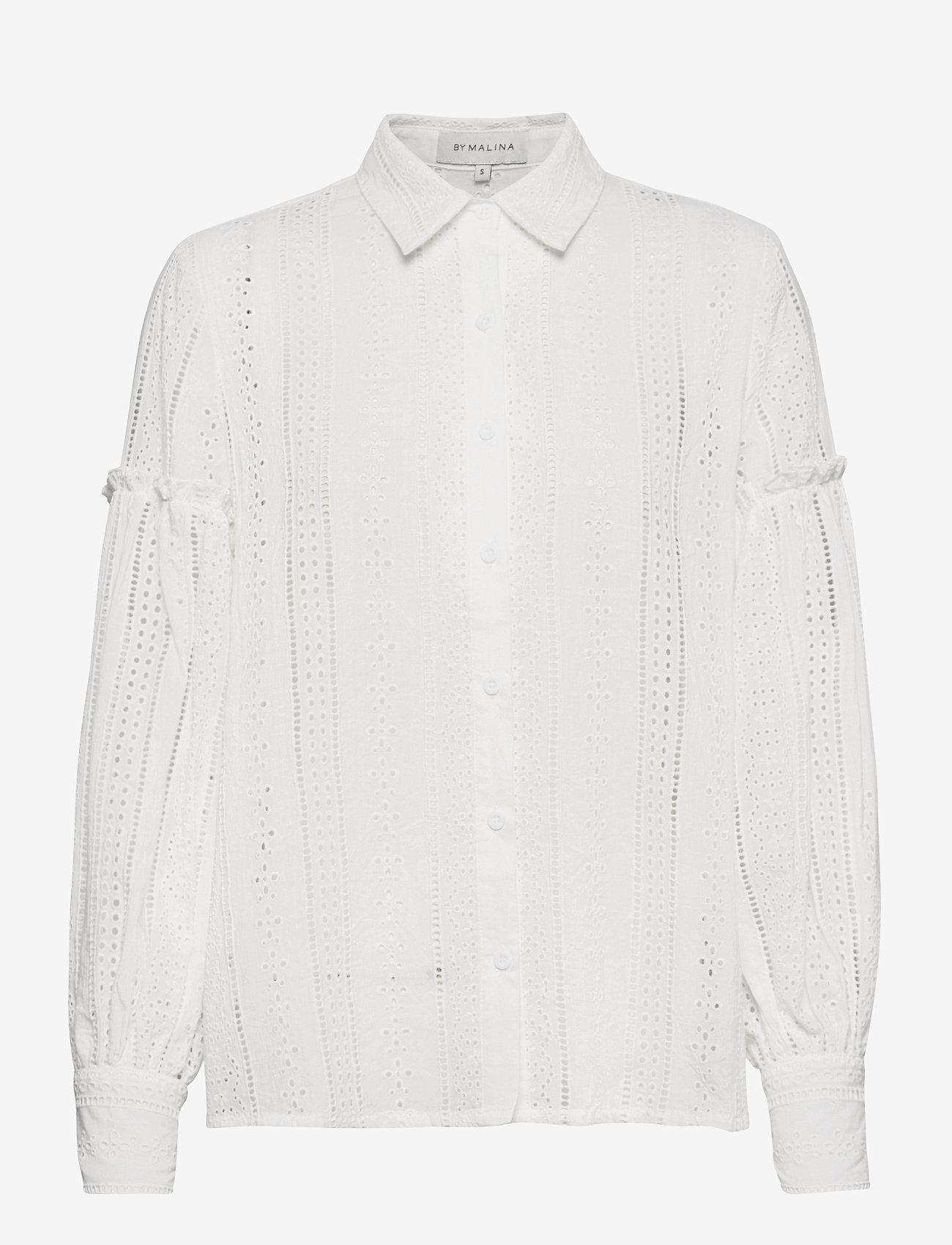 By Malina - Juno blouse - långärmade skjortor - white - 0