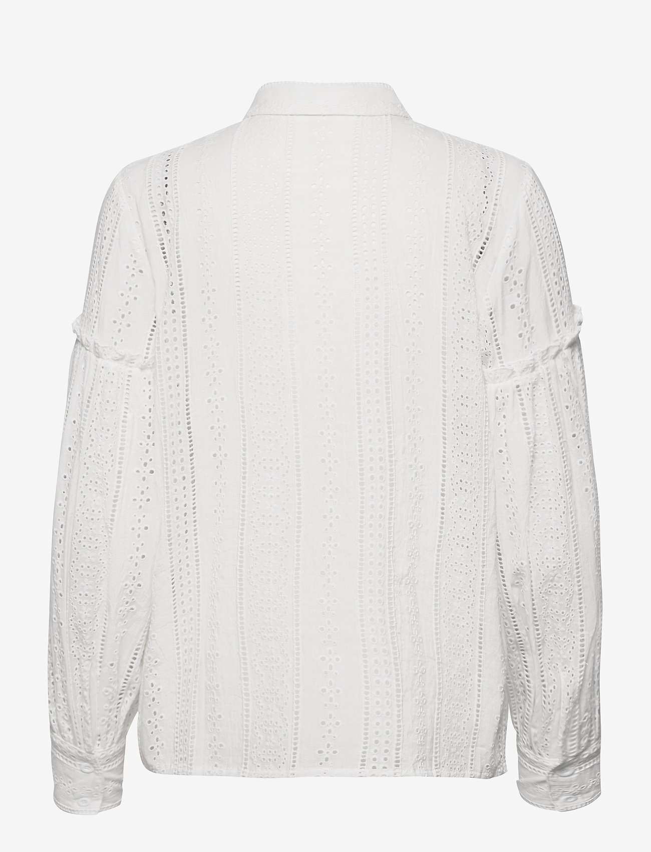 By Malina - Juno blouse - långärmade skjortor - white - 1
