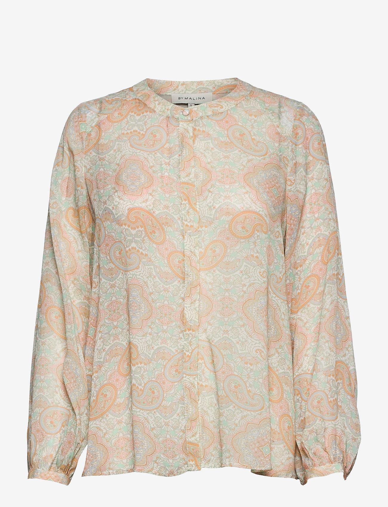 By Malina - Sacha blouse - långärmade blusar - pastel paisley - 1