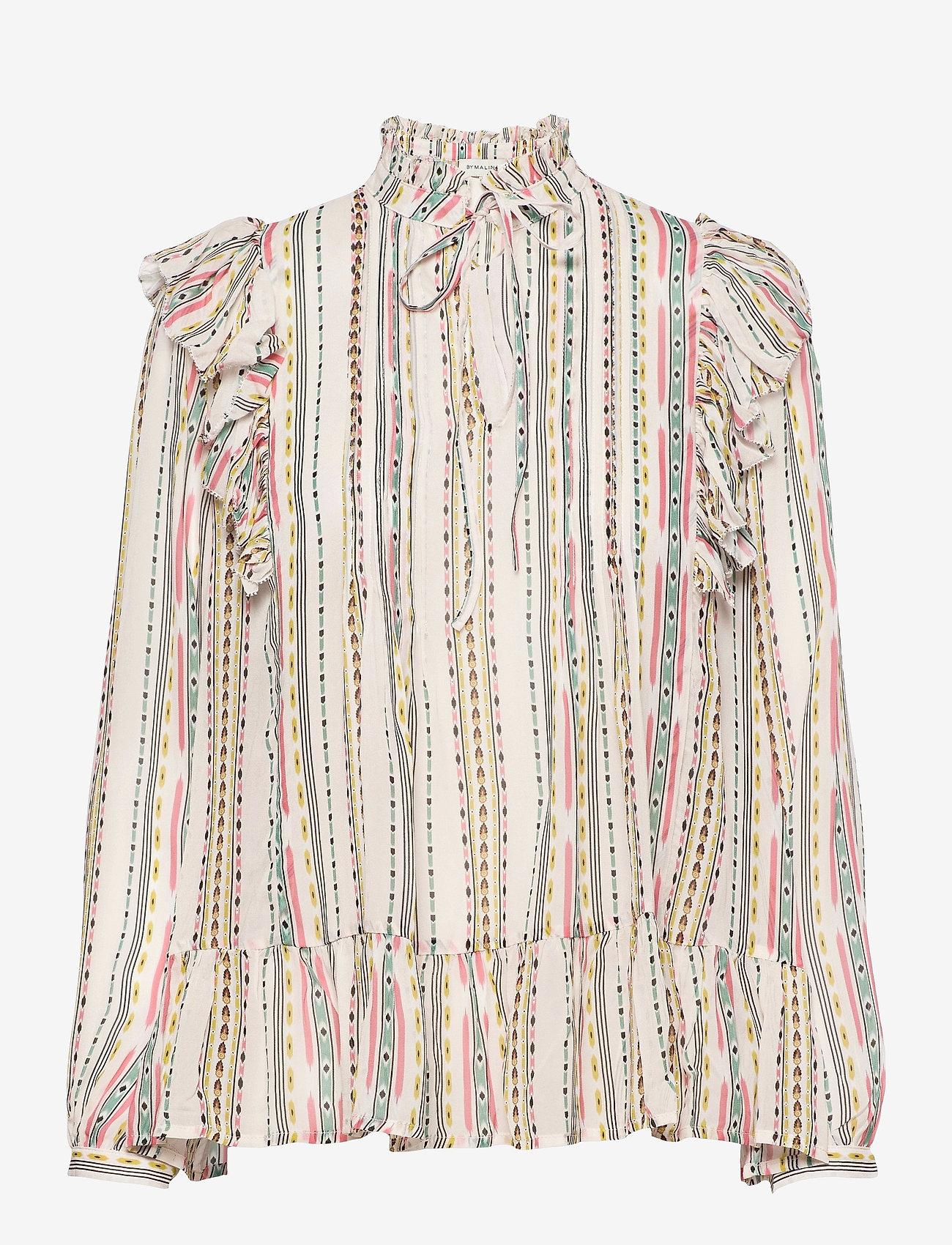 By Malina - Jade blouse - långärmade blusar - inca soft beige - 1