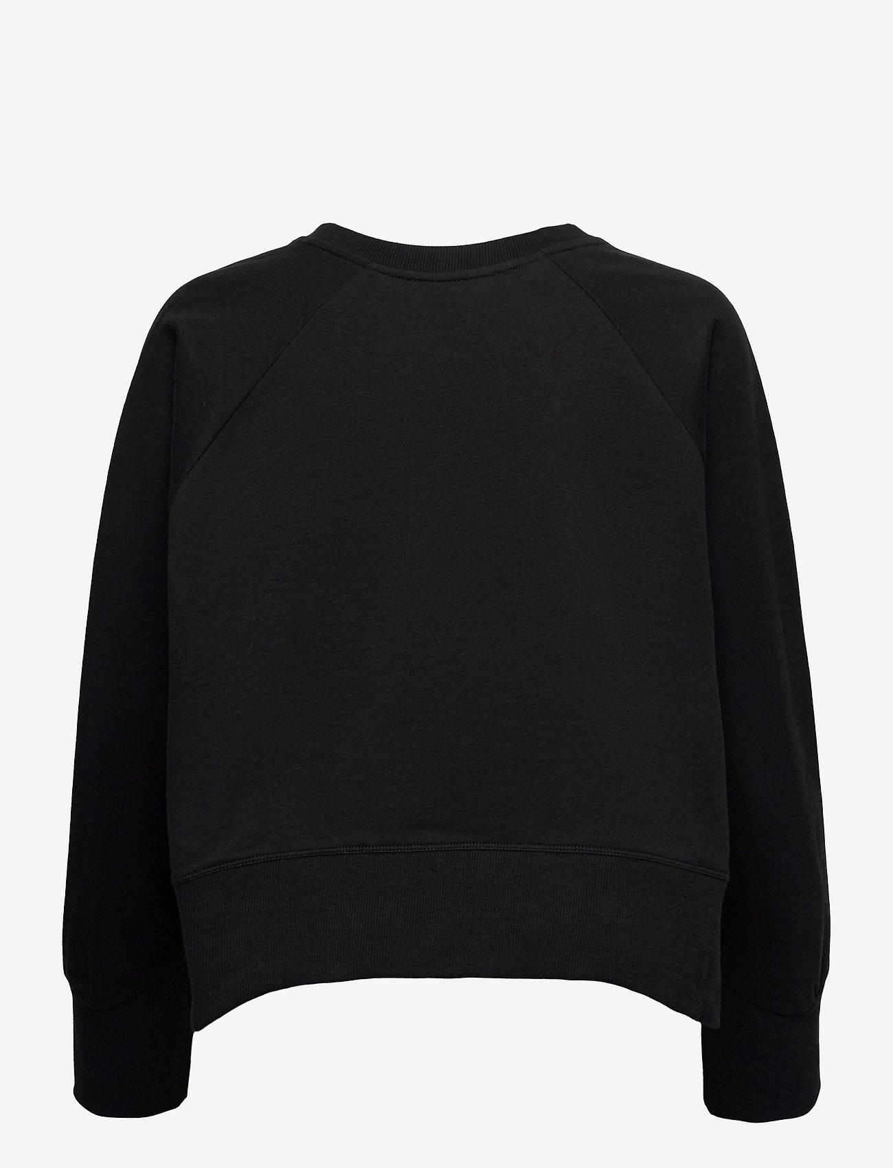 By Malina - Iconic cropped sweatshirt - sweatshirts & hoodies - black - 2
