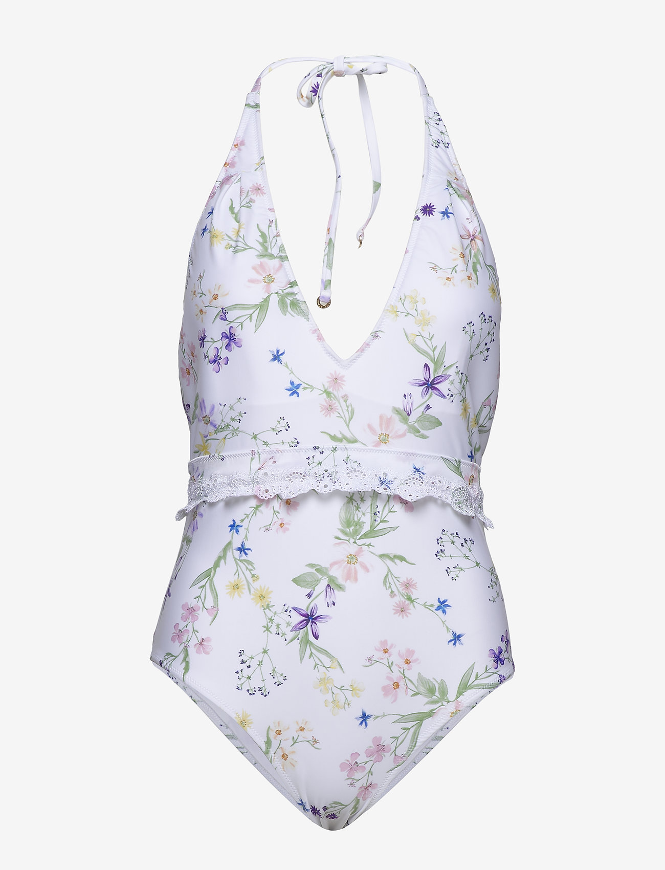 By Malina - Elma swimsuit - baddräkter - midsummer white - 0
