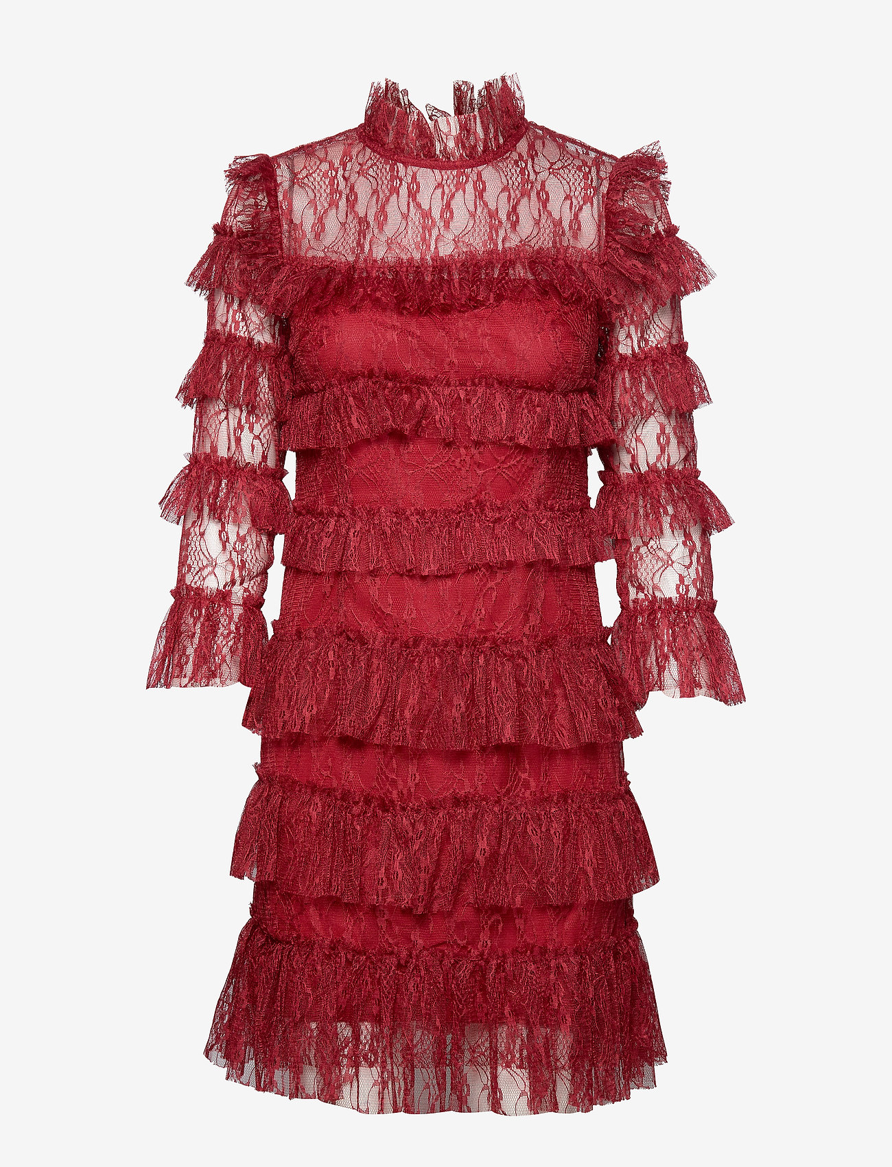 By Malina - Carmine mini dress - cocktailklänningar - ruby red - 0