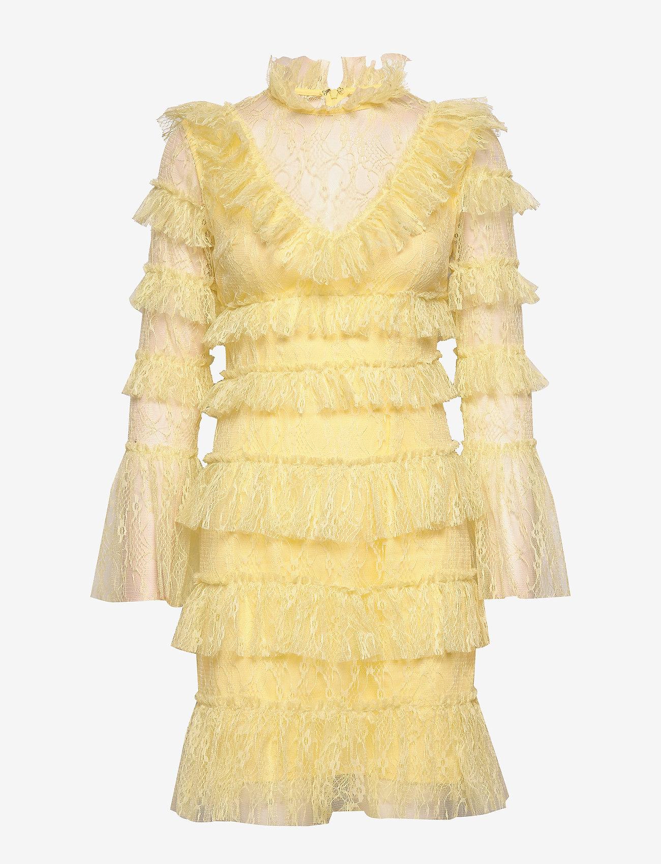 By Malina - Rosa dress - cocktail-kjoler - lemon - 0