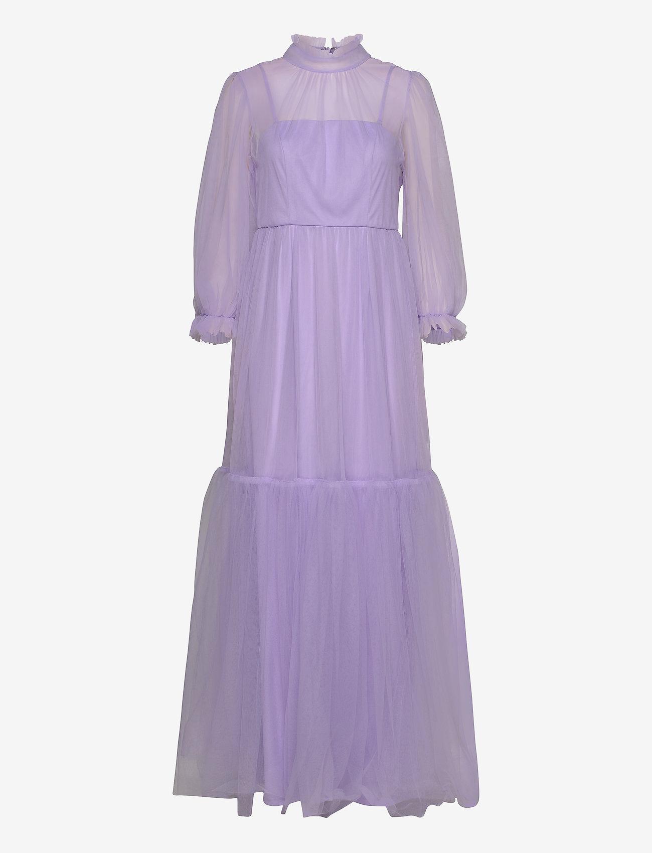 By Malina - Melany maxi dress - aftonklänningar - violet - 0