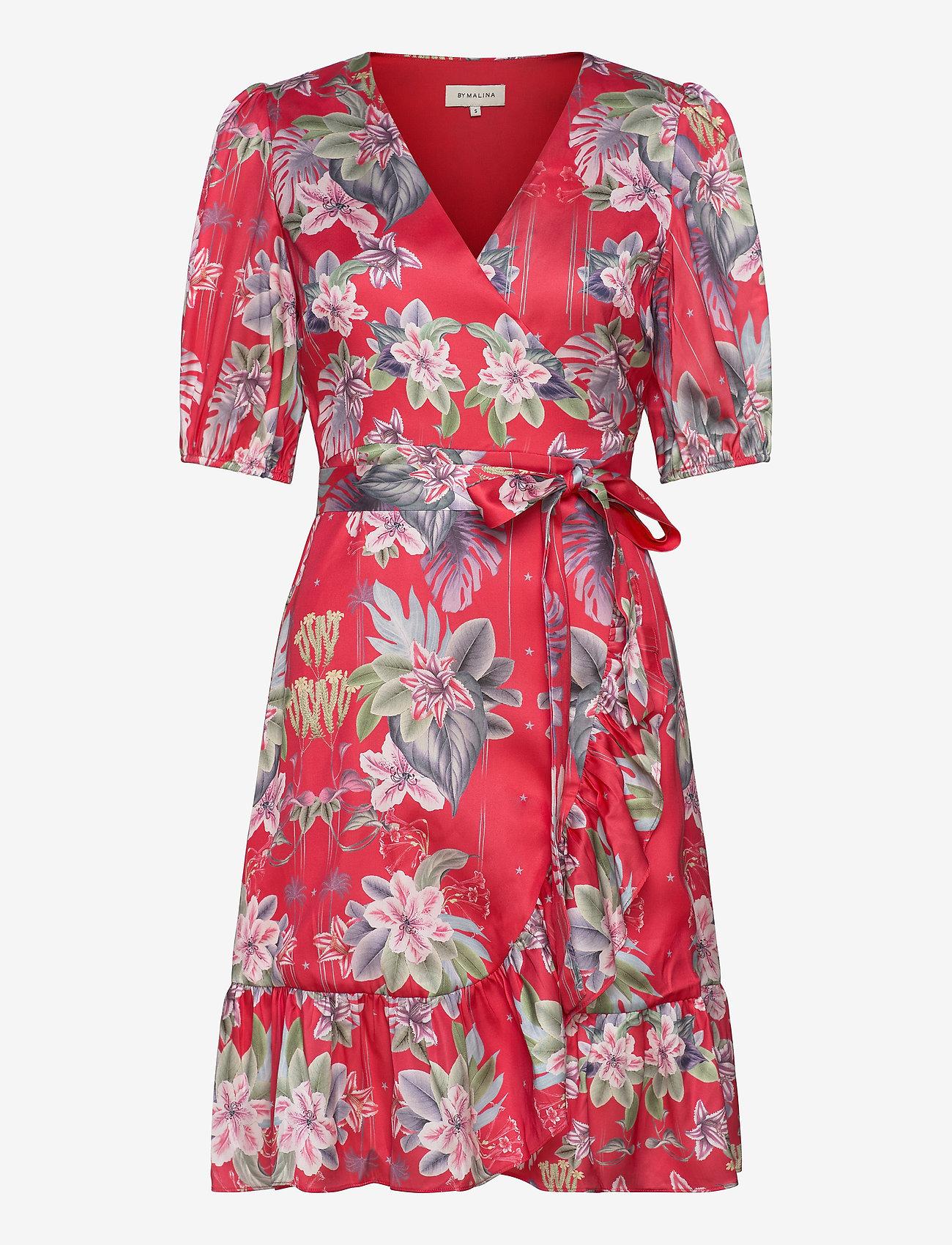 By Malina - Lydia dress - sommarklänningar - electric jungle pink coral - 0