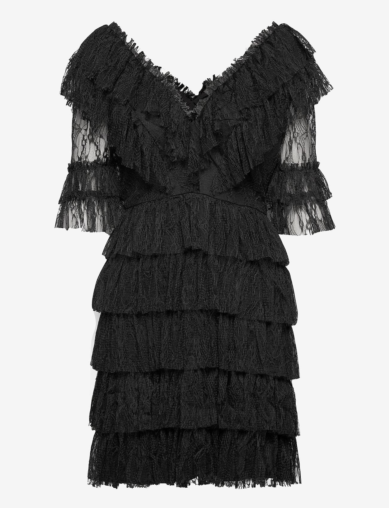 By Malina - Sky dress - spetsklänningar - black - 1