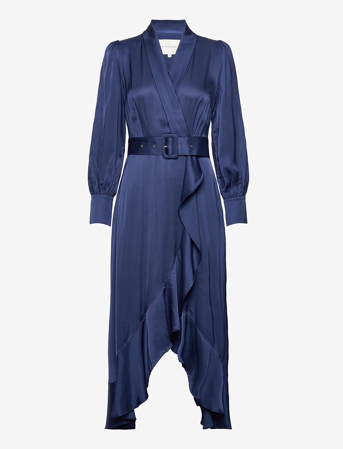 By Malina - Florence dress - cocktailklänningar - deep blue - 0