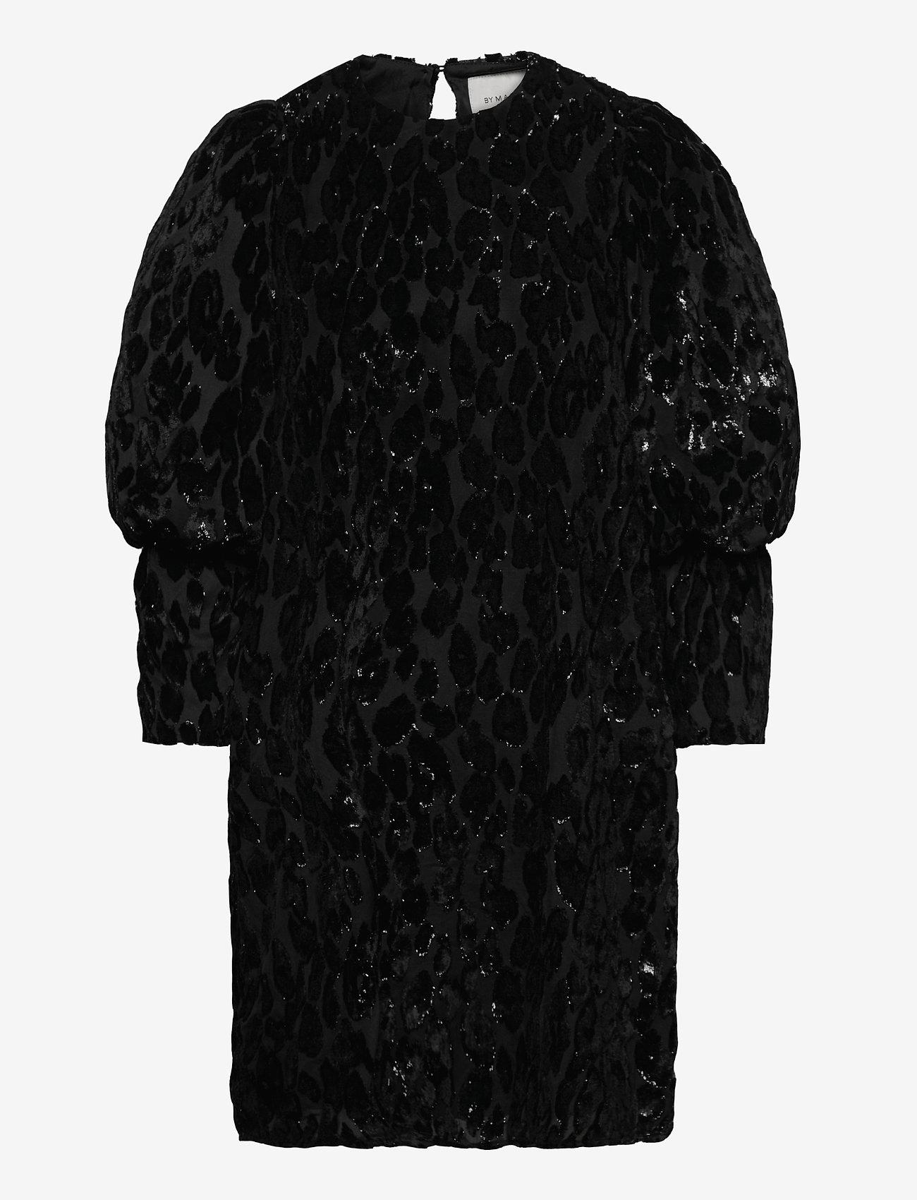 By Malina - Rubina velvet dress - cocktailklänningar - black sparkle - 1