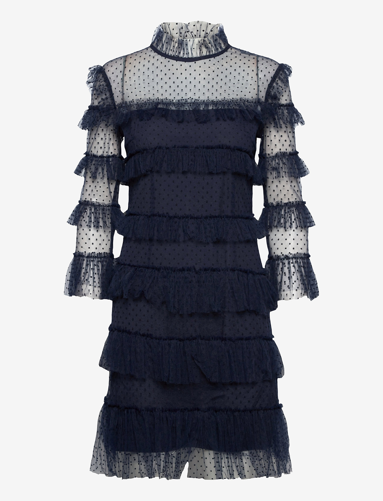 By Malina - Carmine dotted dress - cocktailklänningar - deep blue - 1