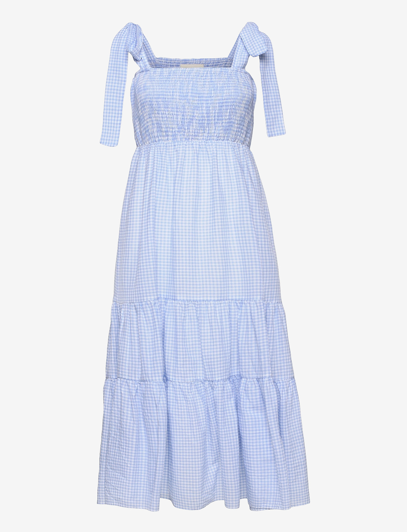 By Malina - Eloise dress - sommarklänningar - blue checker - 1
