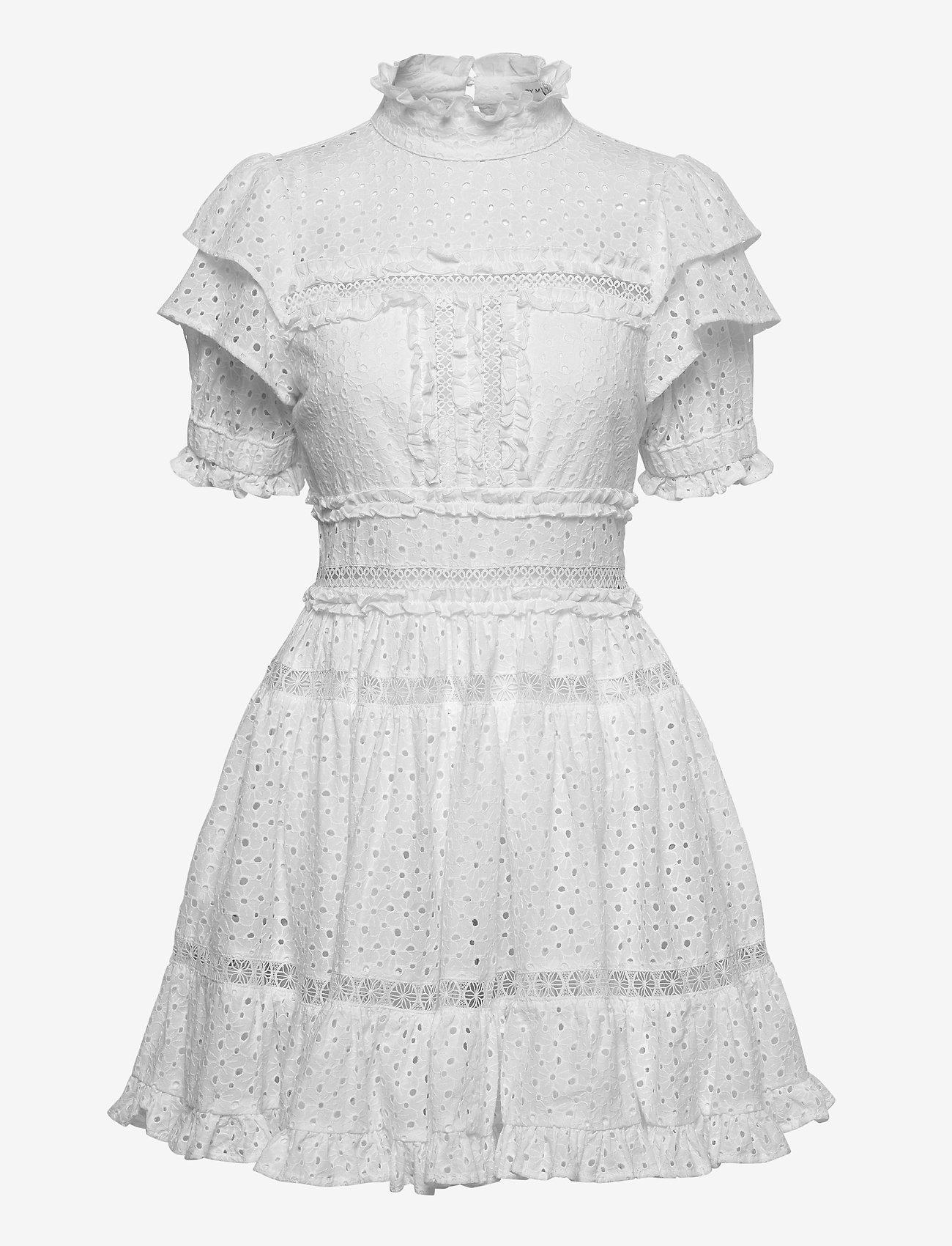 By Malina - Iro mini lace dress - sommerkjoler - white - 1