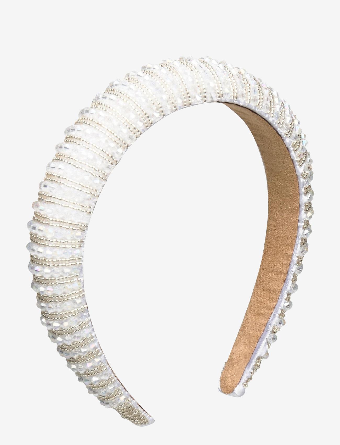 By Malina - Margaux embellished headband - haar accessoires - ivory - 1