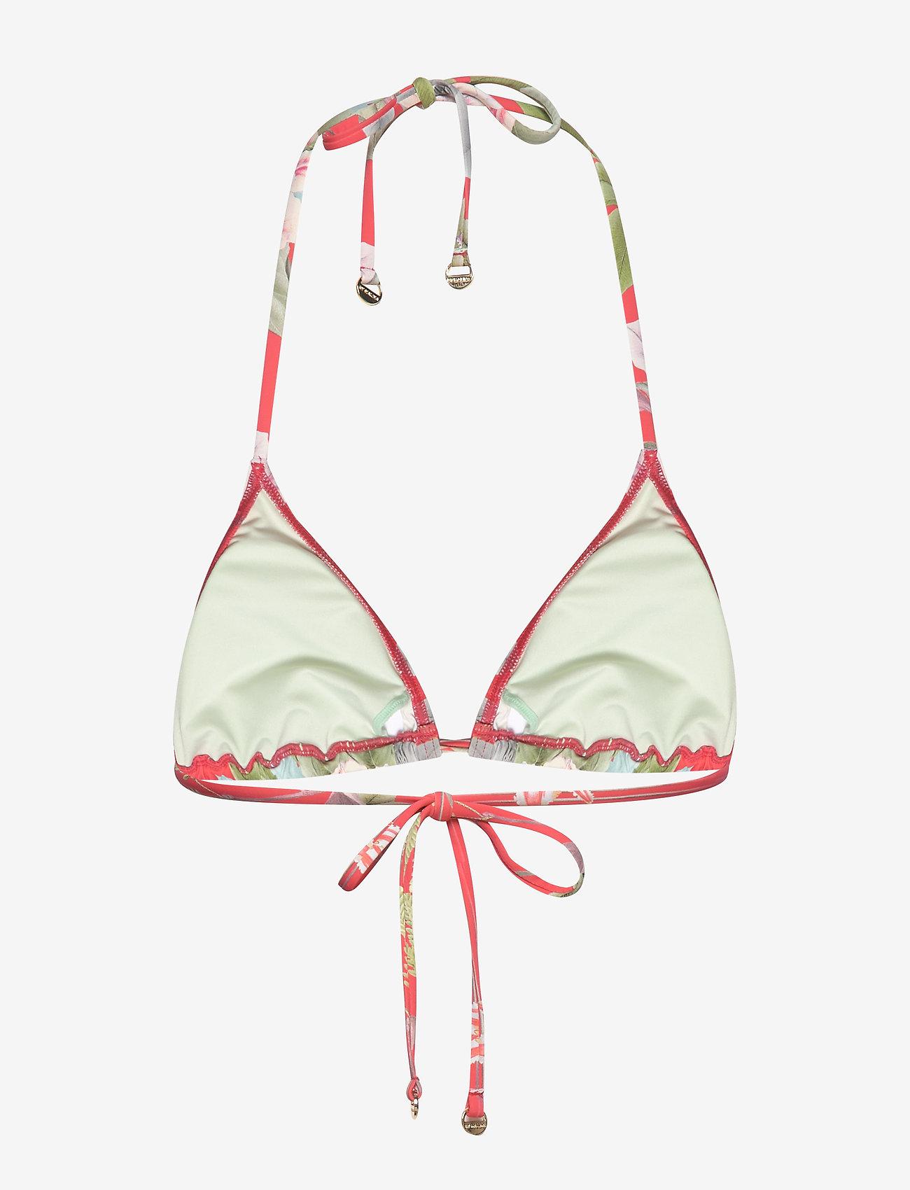 By Malina - Lexi bikini top - góry strojów kąpielowych - electric jungle pink coral - 1