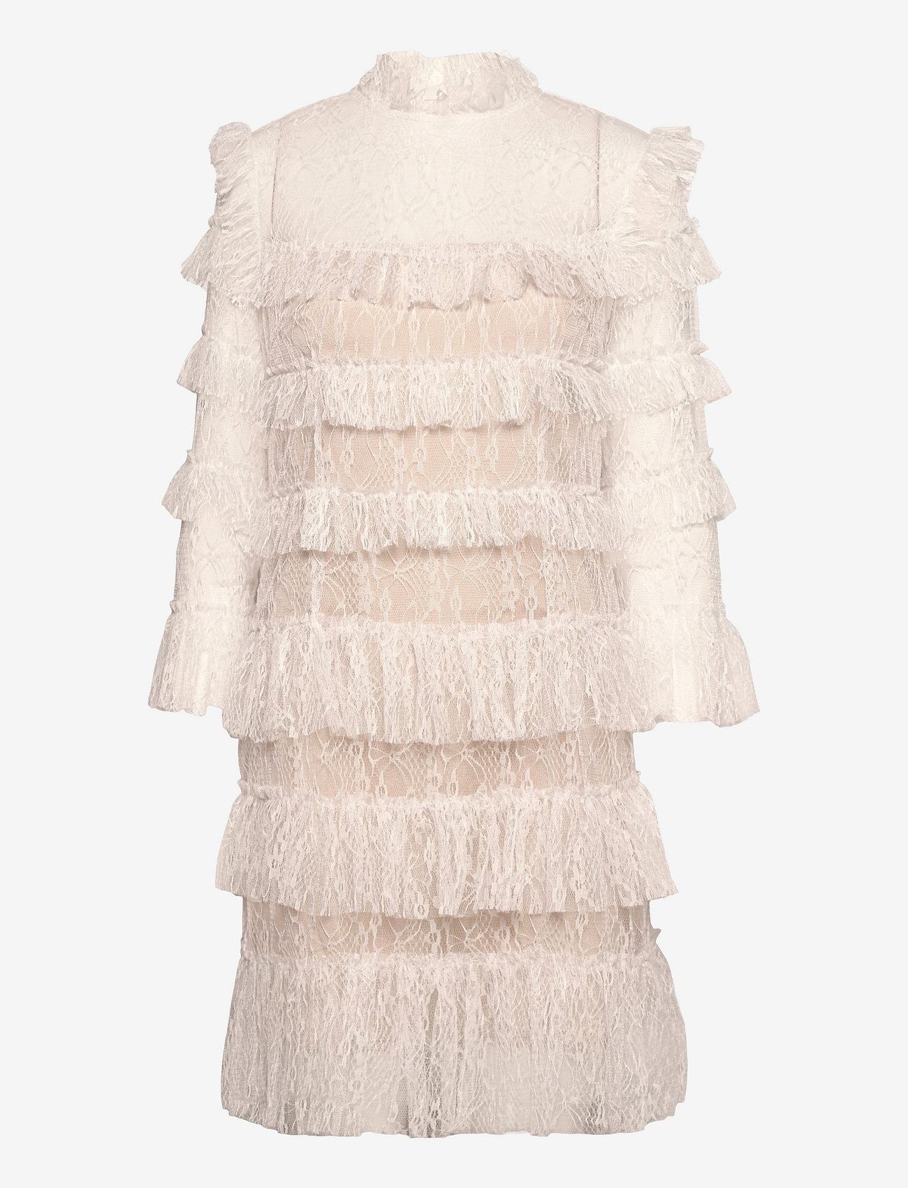 By Malina - Carmine mini dress - cocktailklänningar - cloudy white - 1