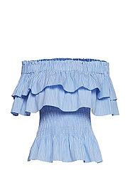 Idalia top - BLUE/WHITE STRIPE